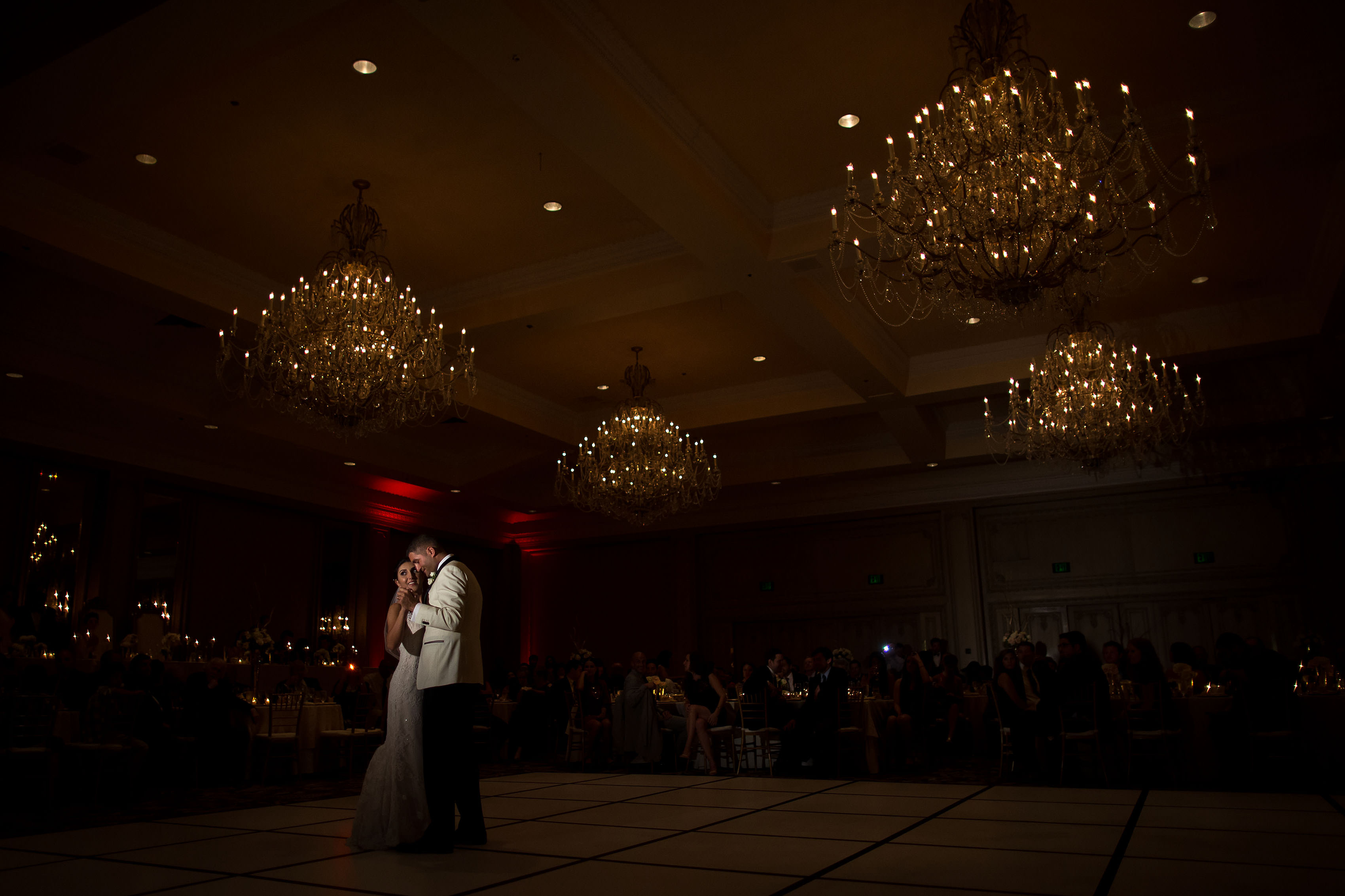 Marika and Dean share their first dance during their Denver Greek Grand Hyatt wedding