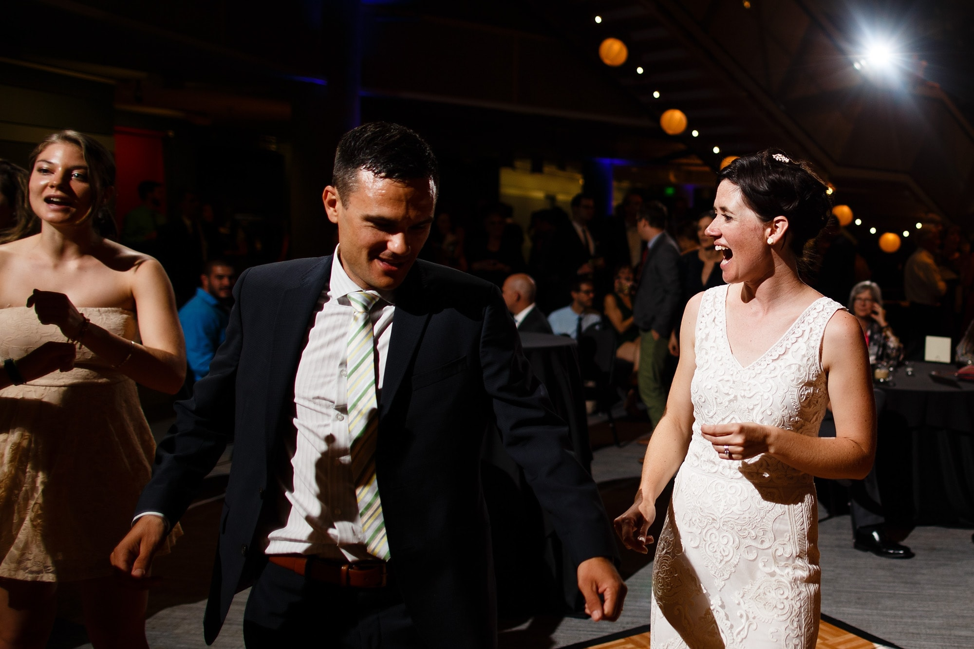 Denver Museum of Nature and Science wedding photos by Justin Edmonds Photography