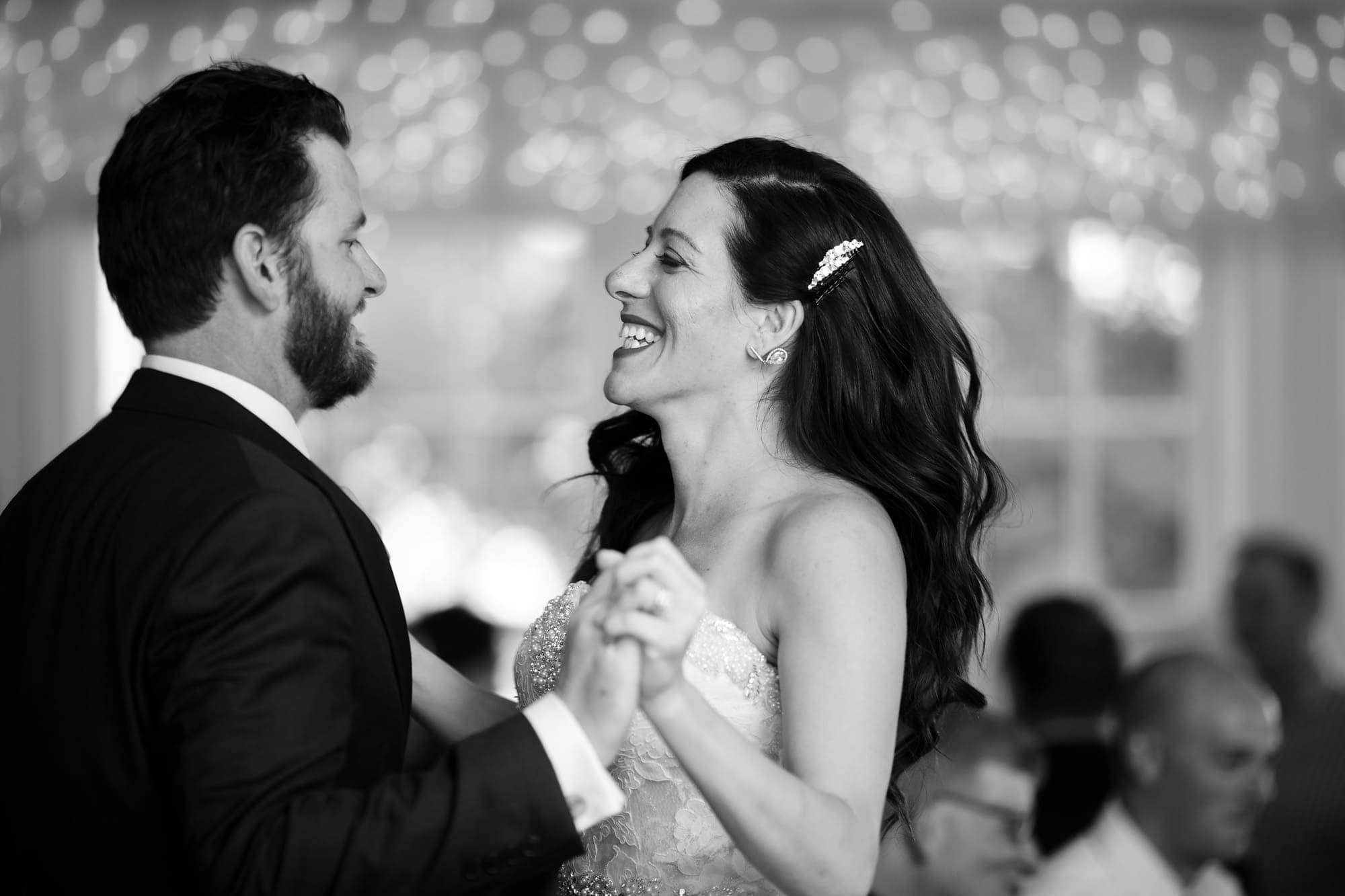 Blake and Gina share a first dance together as husband and wife during their Willow Ridge Manor wedding