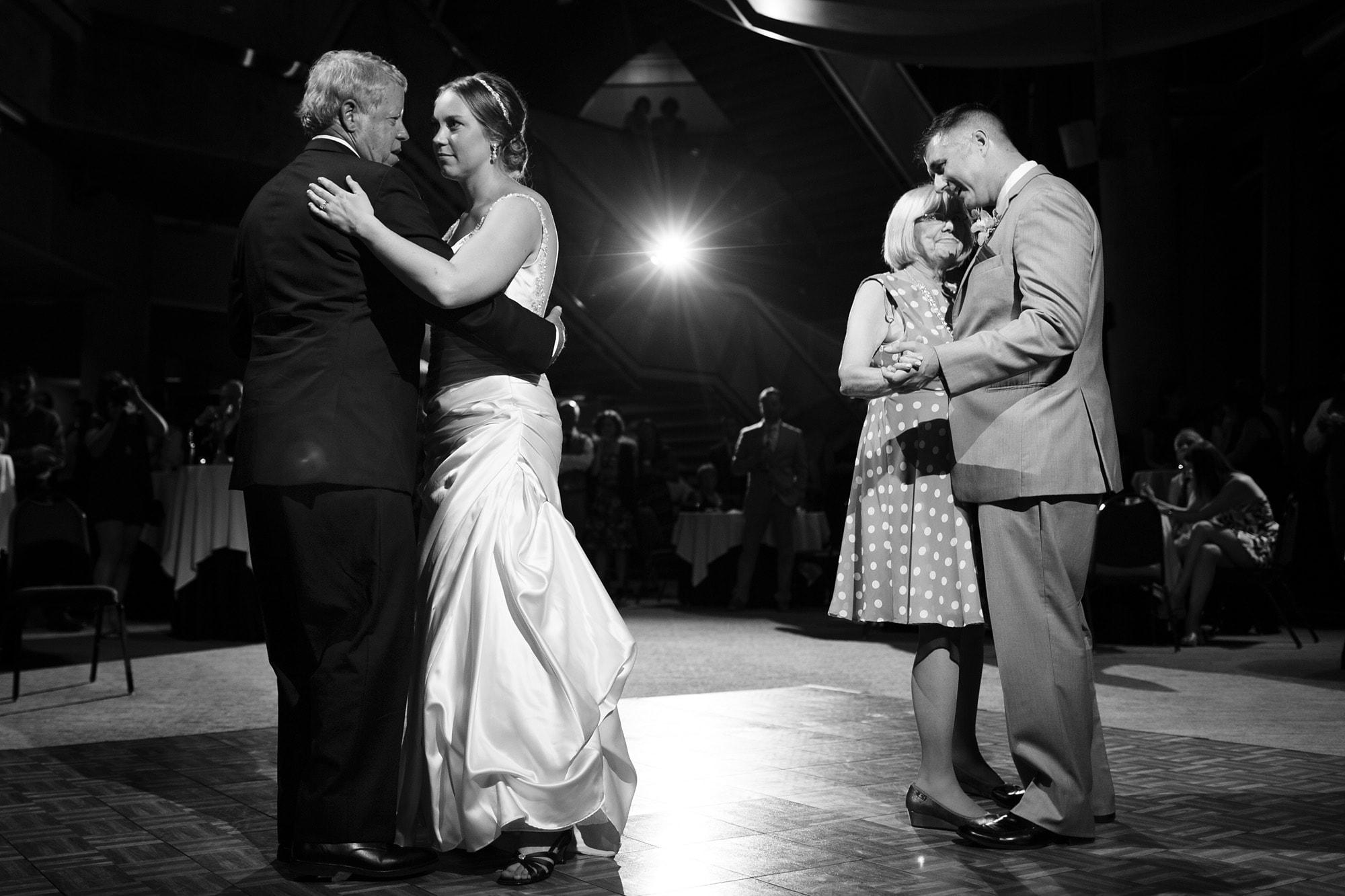 Parents dance in the west atrium