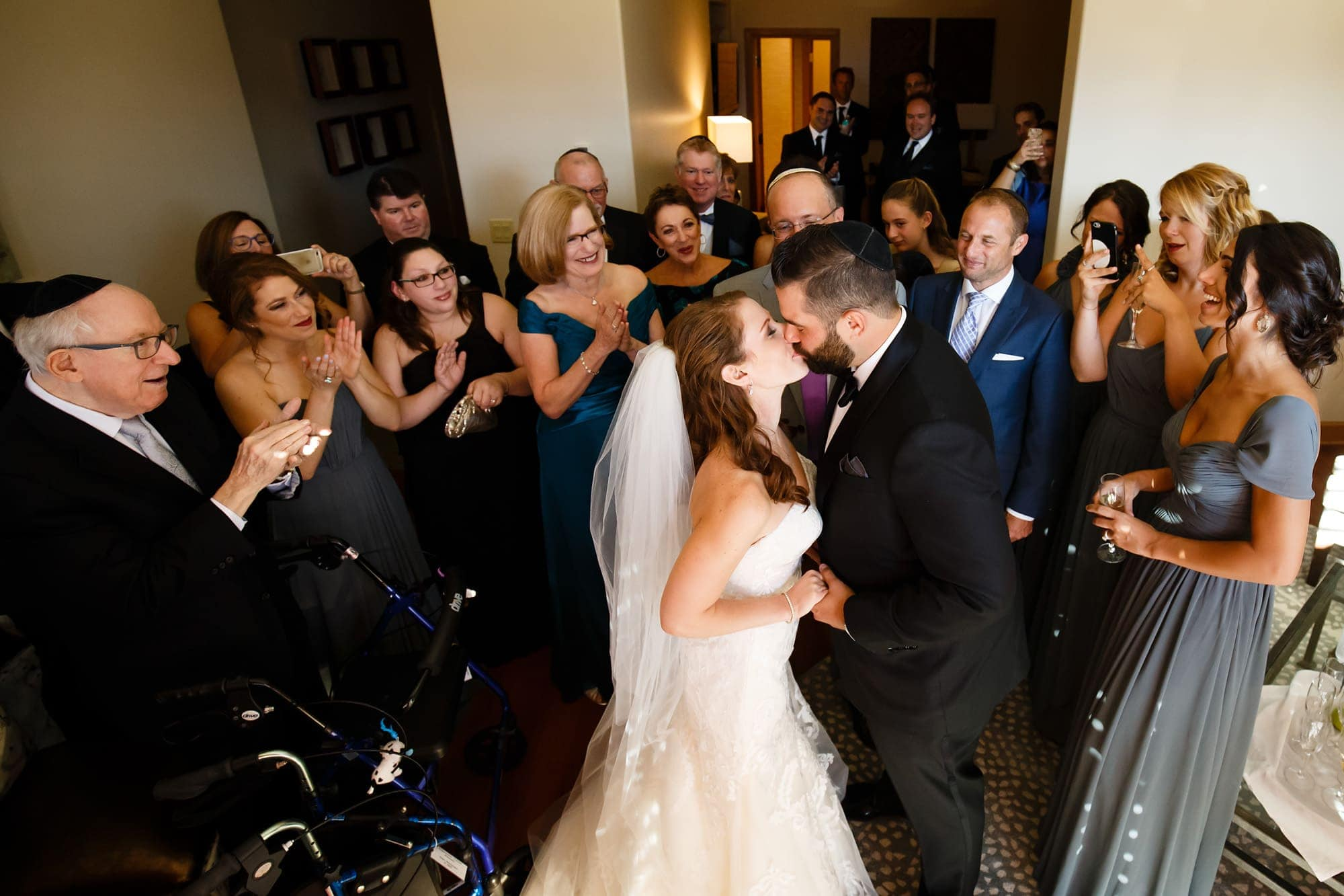 The Jewish couple shares a first kiss in Colorado Springs