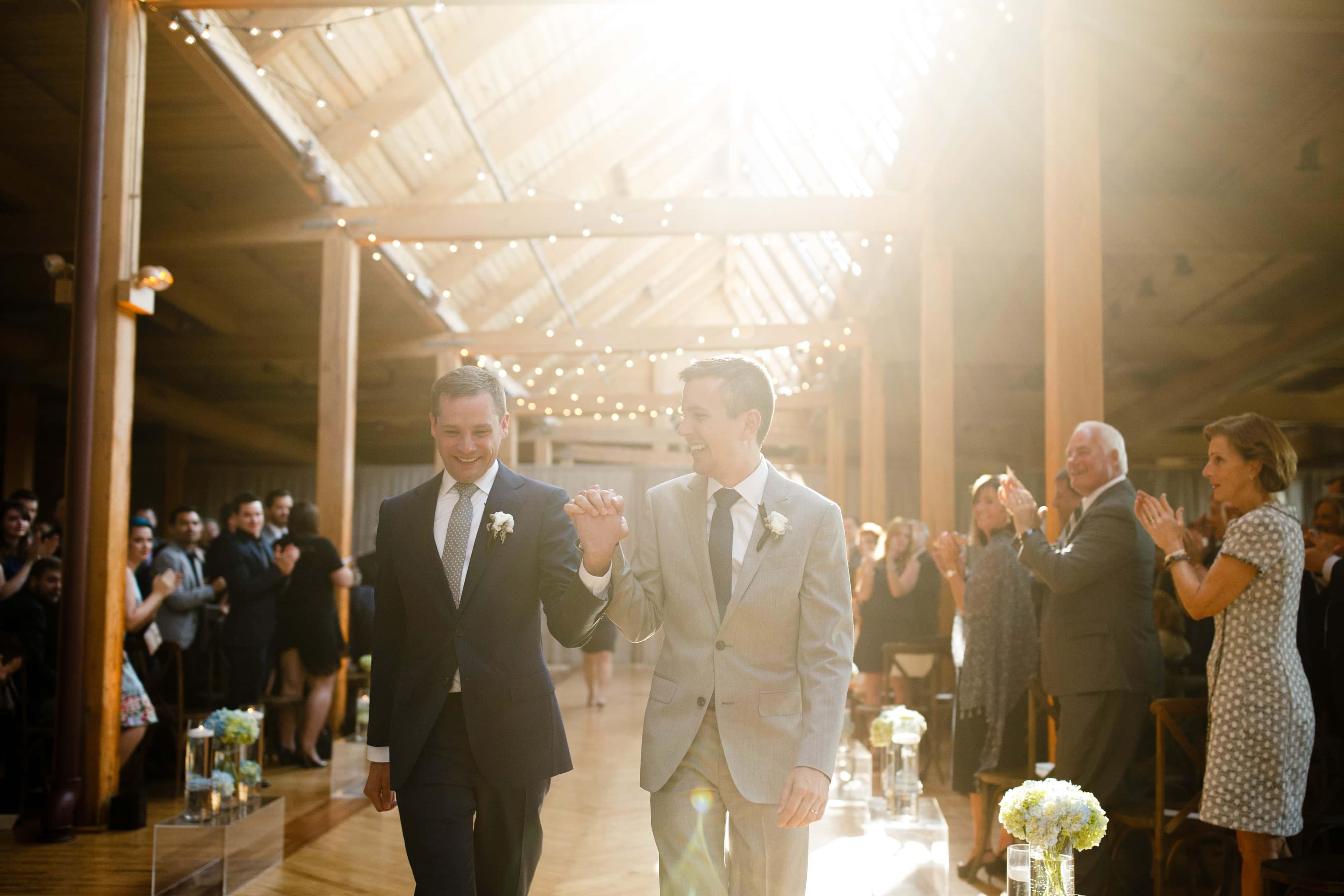 Chicago Loft Wedding ceremony