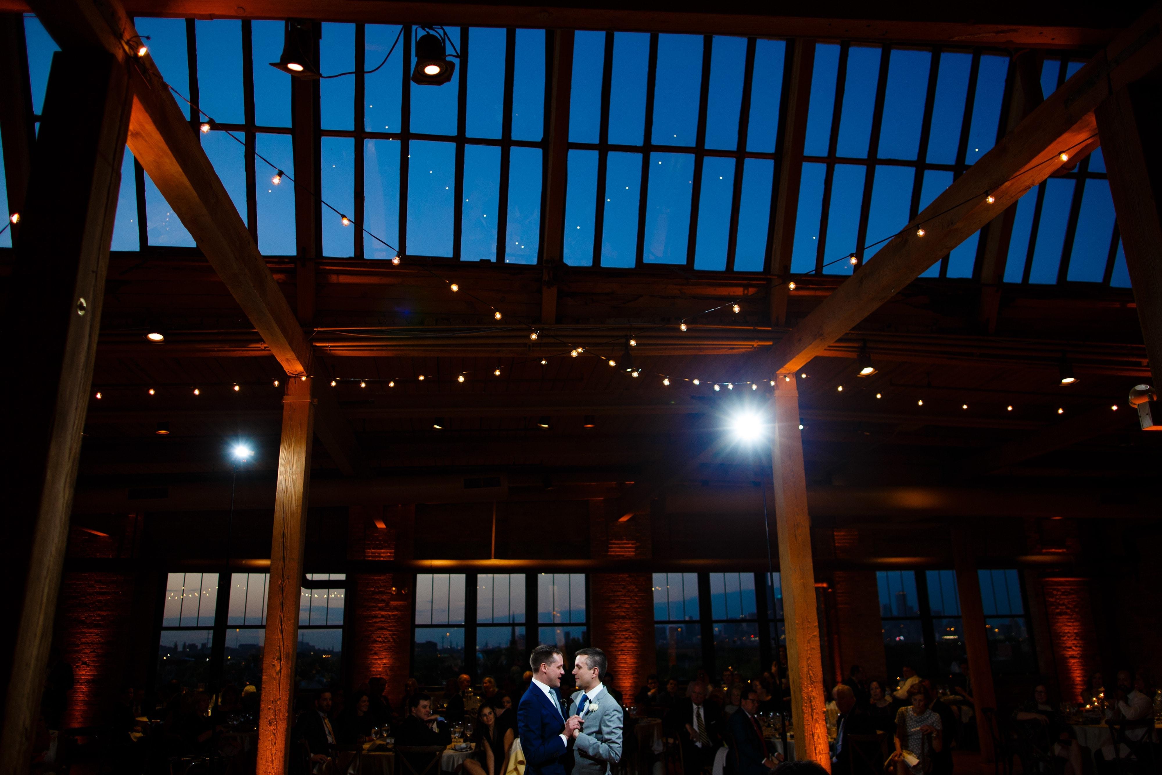 Chicago Loft Wedding first dance