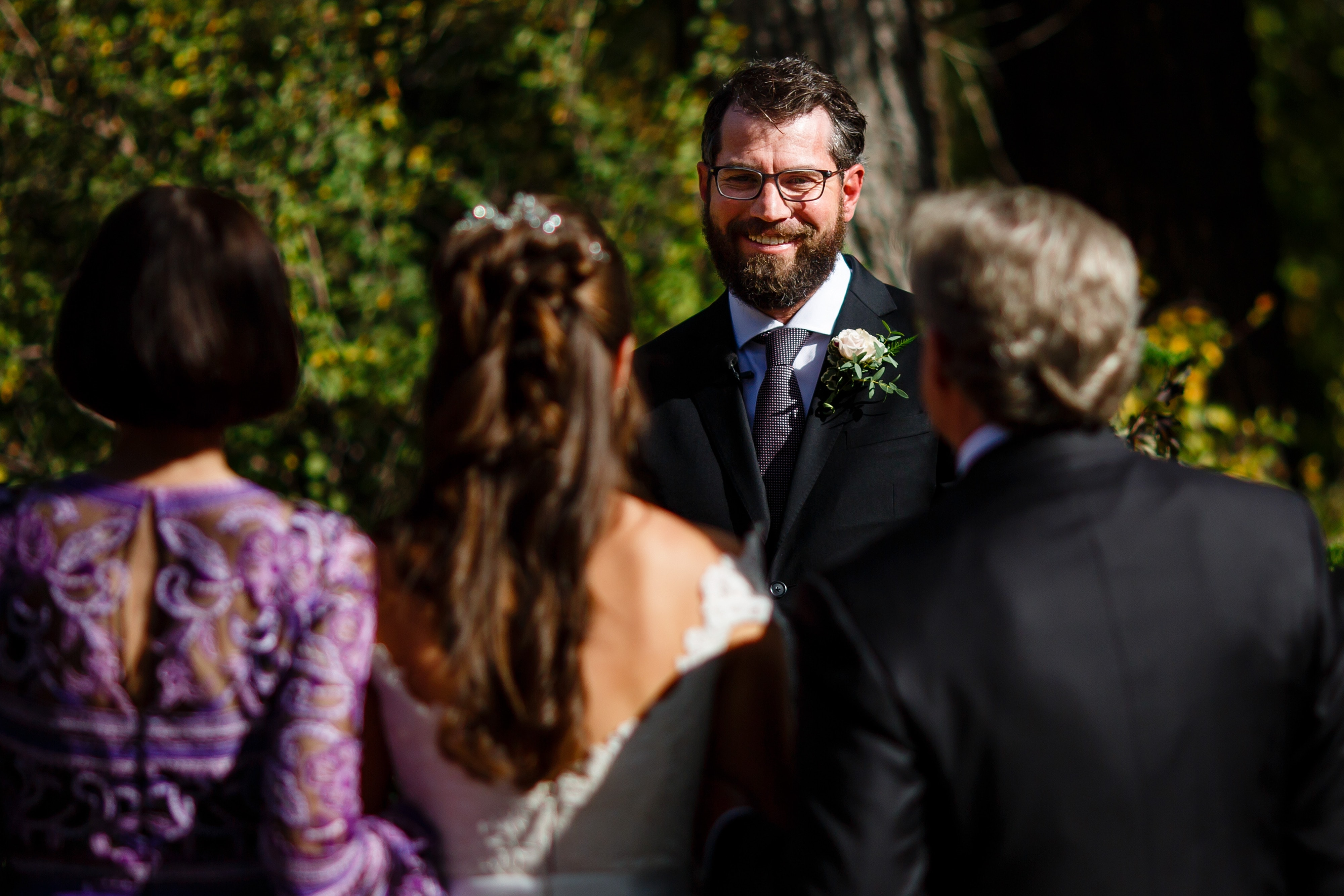 Daniel sees his bride for the first time