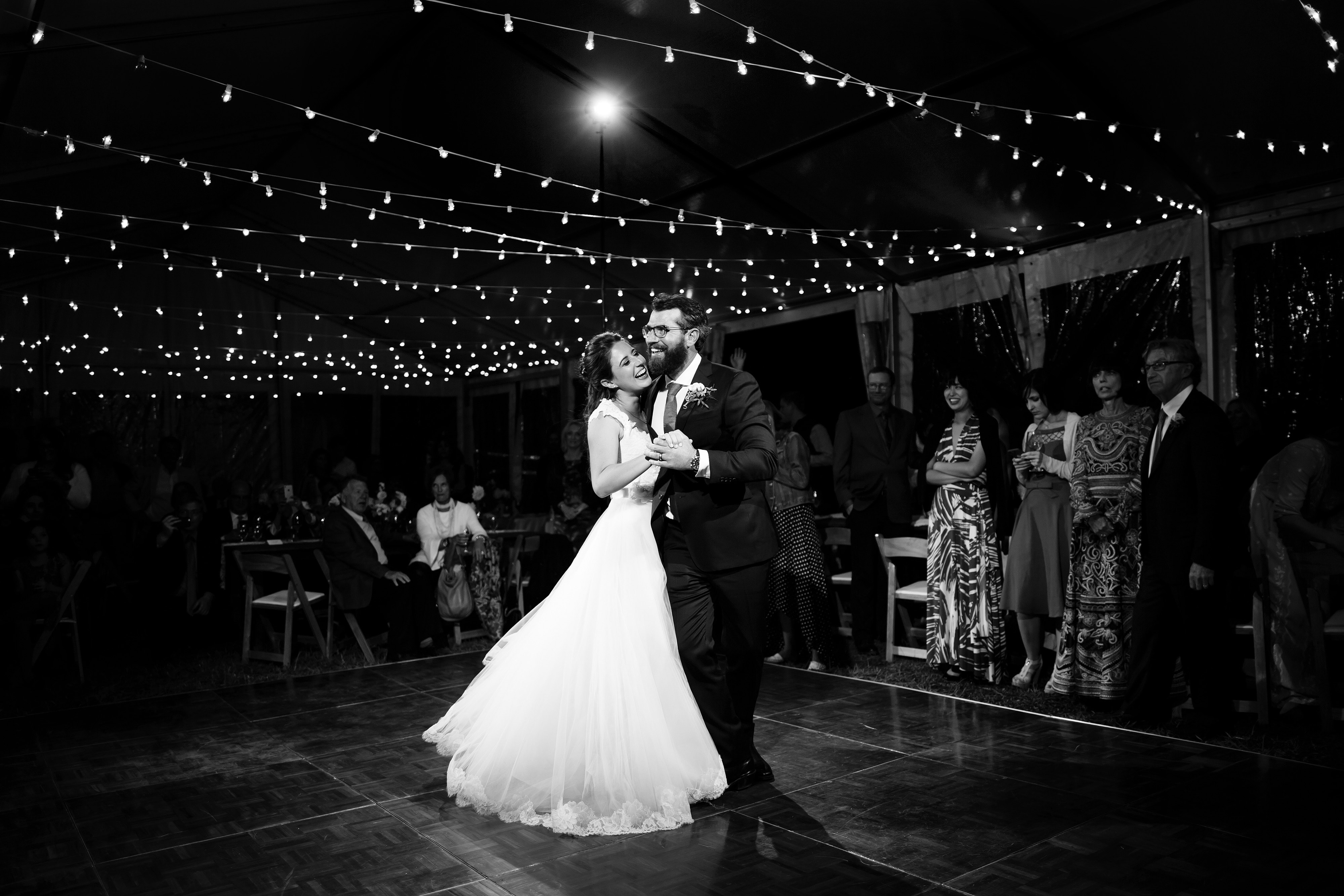 Mallory and Daniel hit the dance floor for the first time