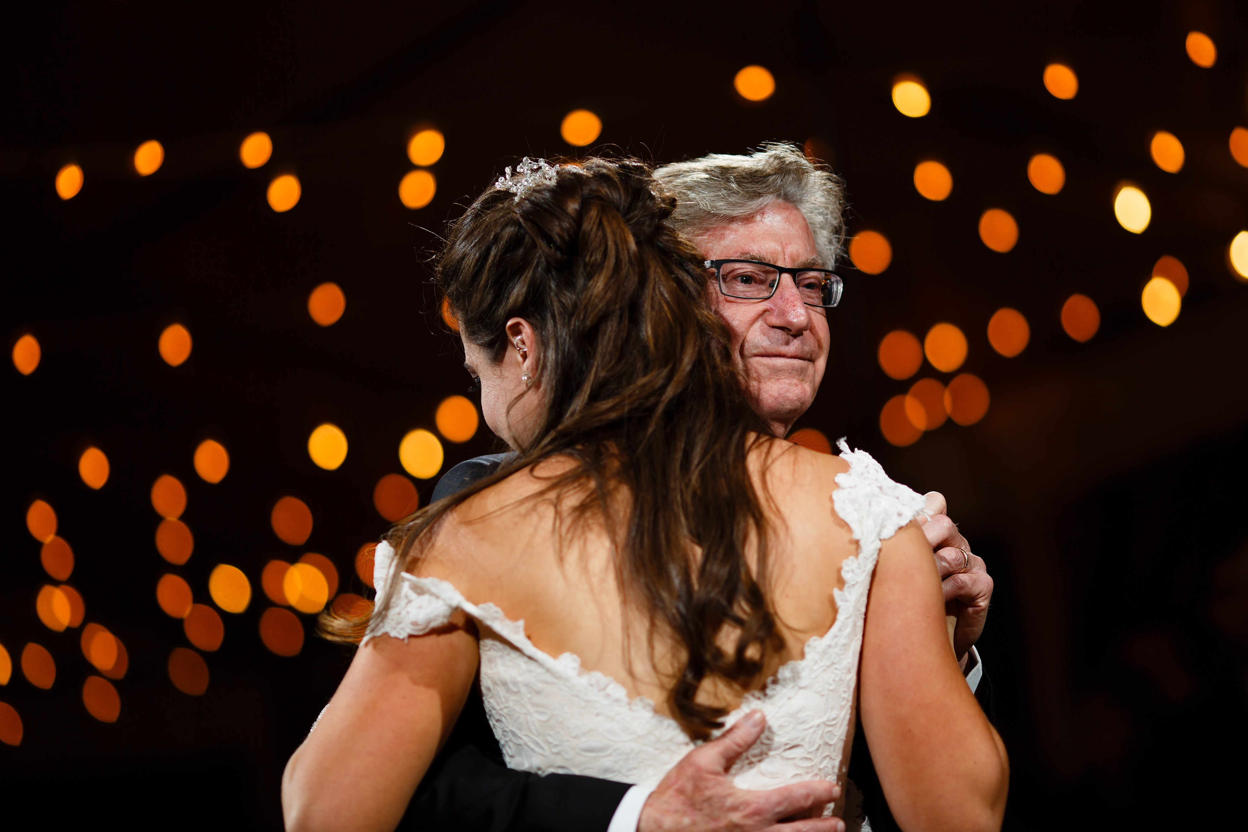 Richard dances with his daughter