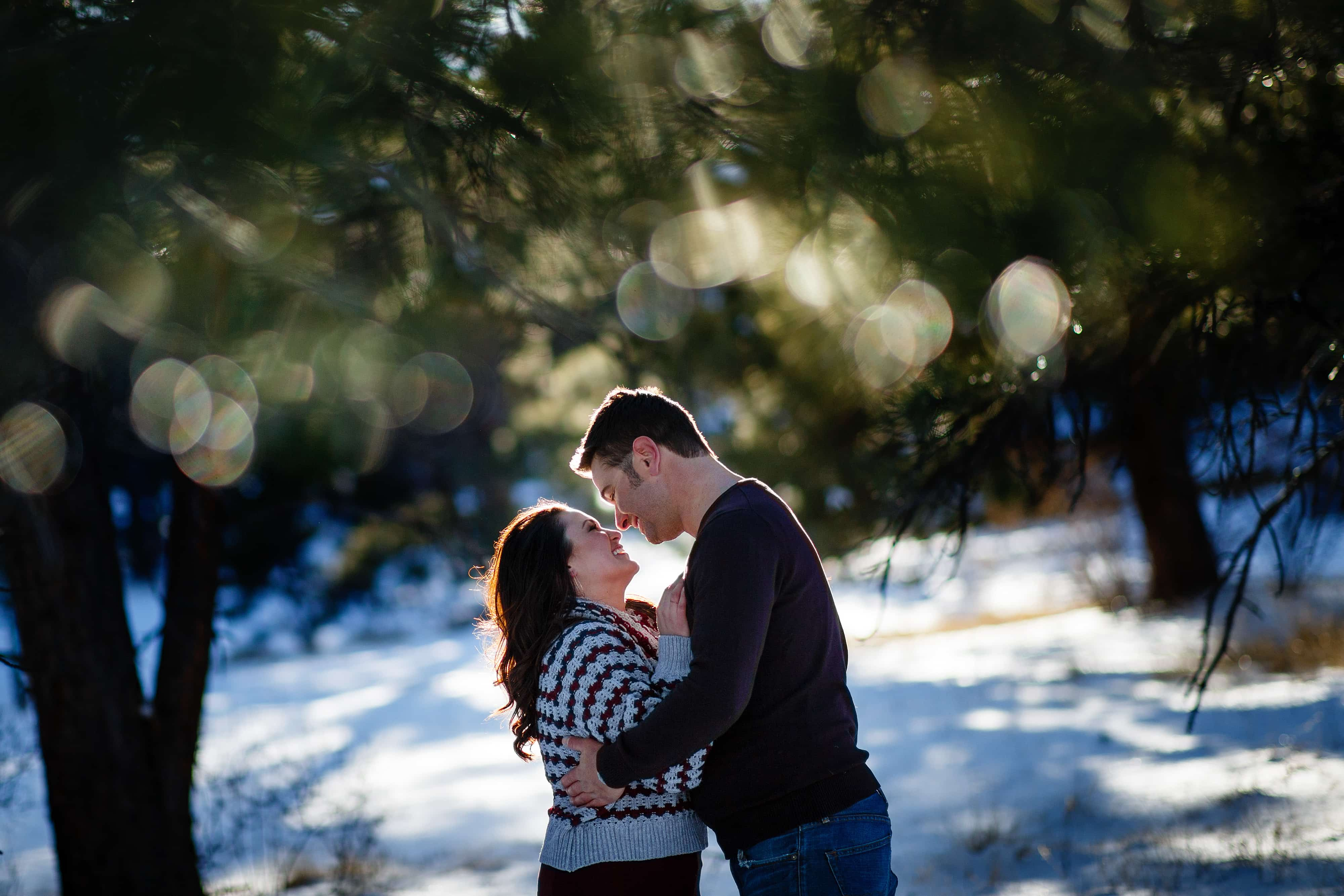 Elk Meadow Park Winter Engagement | Melissa & Jordan