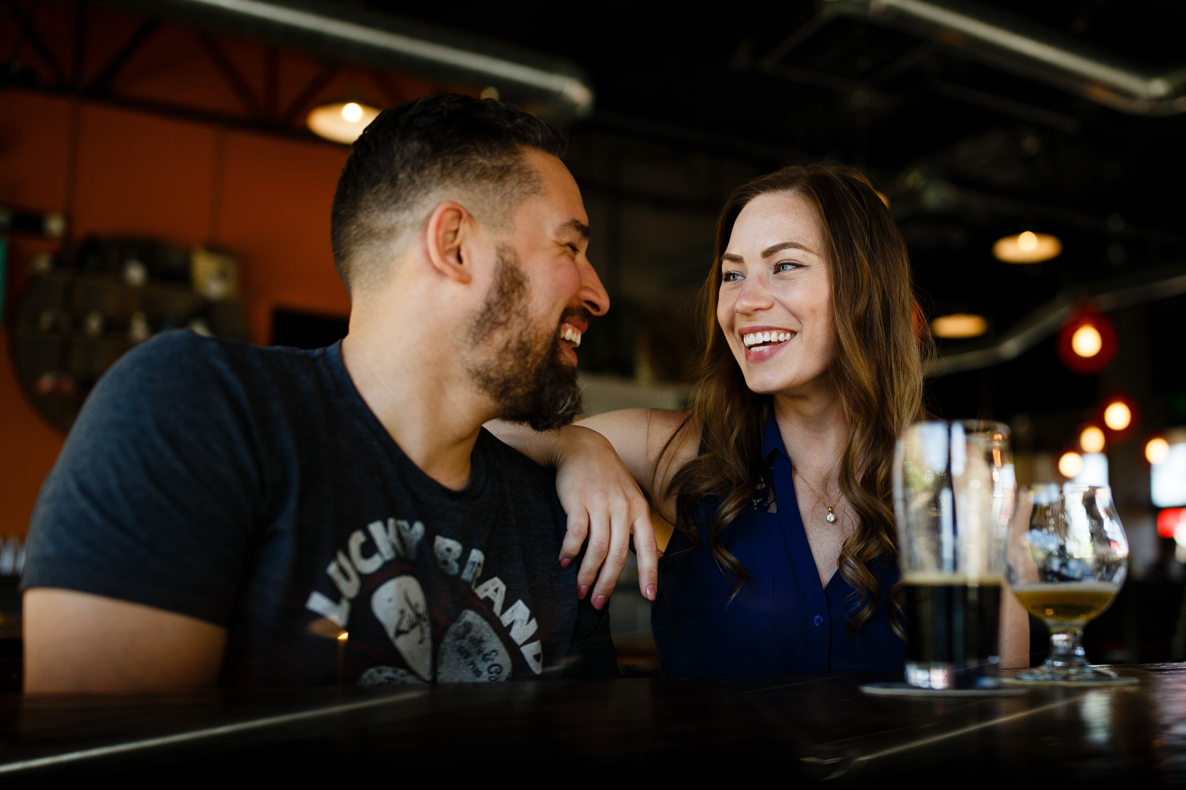 Nick and Sharon share a beer together at Cannonball Creek Brewing Company in Golden, Colorado