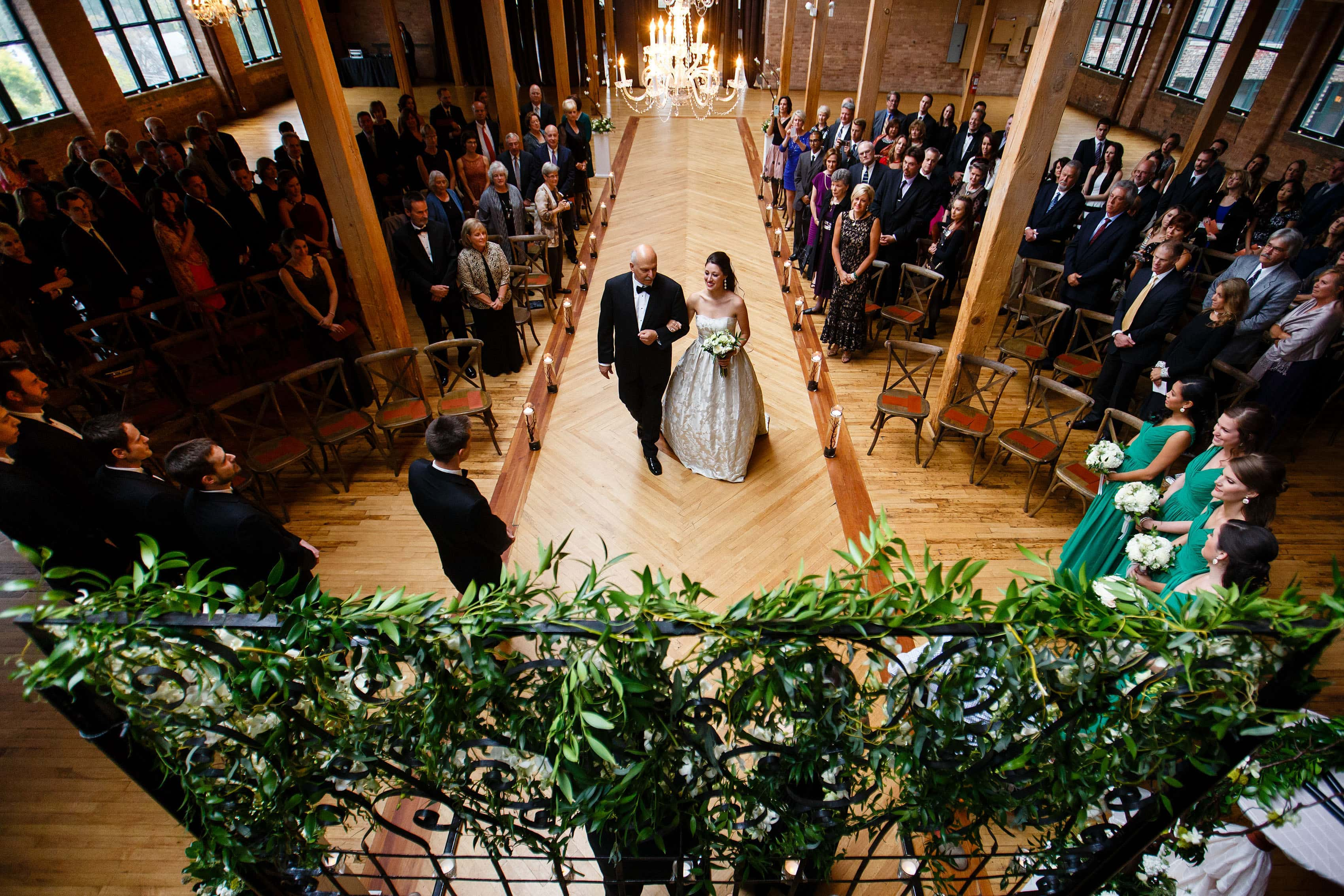 Bridgeport Art Center Wedding ceremony in Chicago