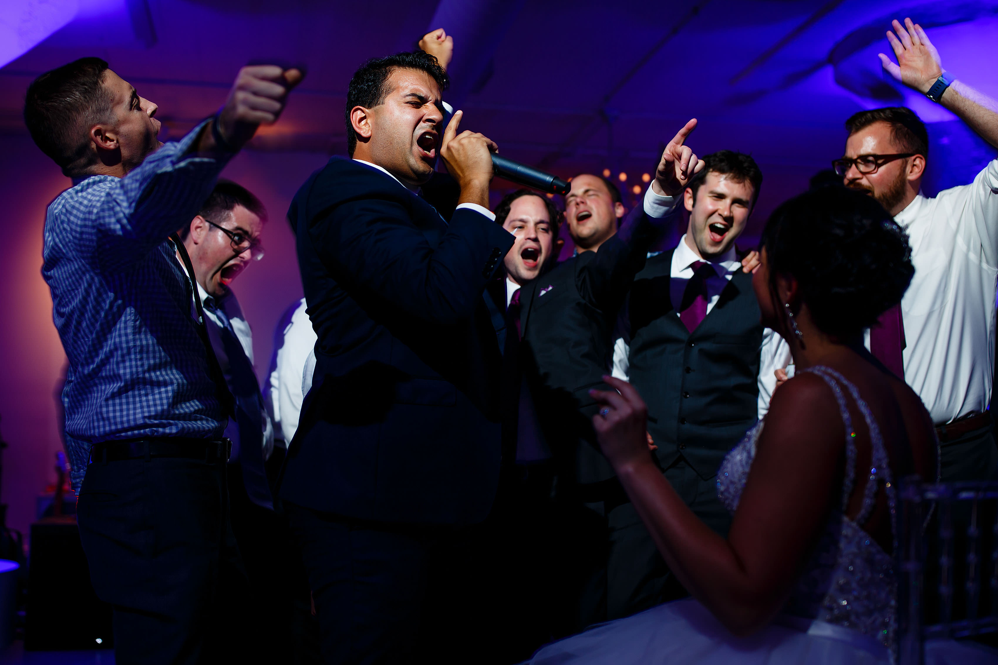 Guests dance during a wedding at Room 1520 in Chicago