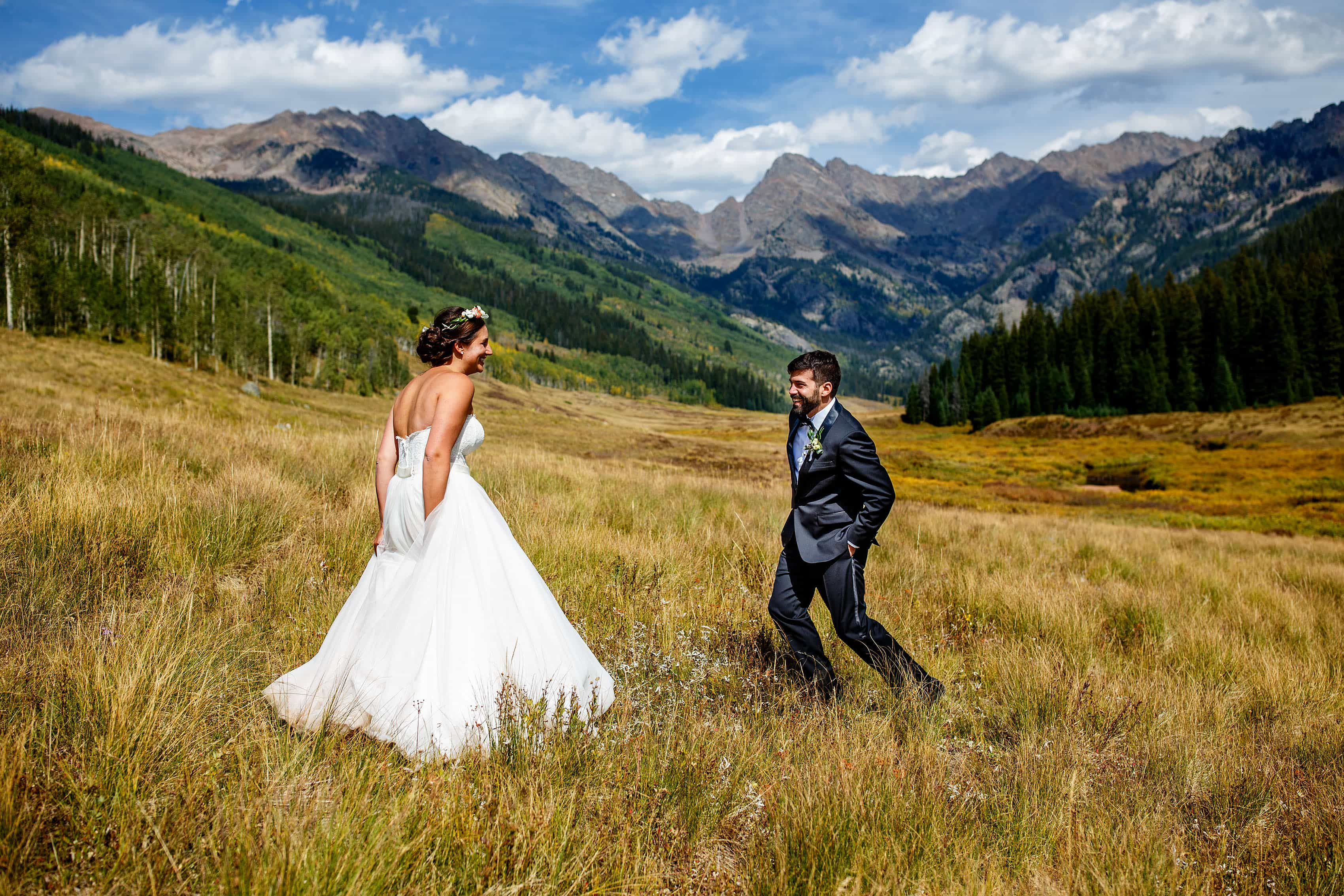 Piney River Ranch first look in front of the Gore range in Vail