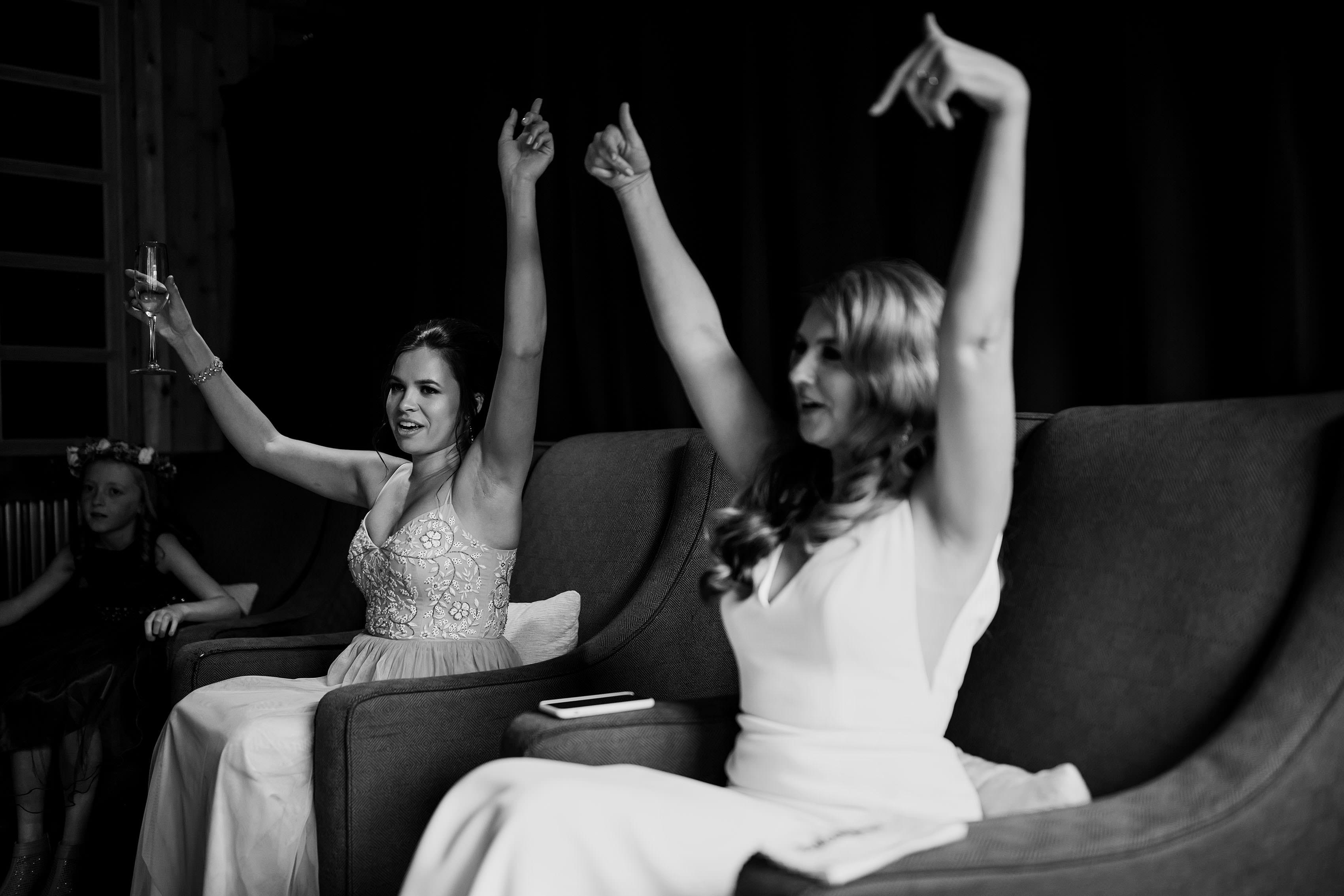 Heather dances before the wedding