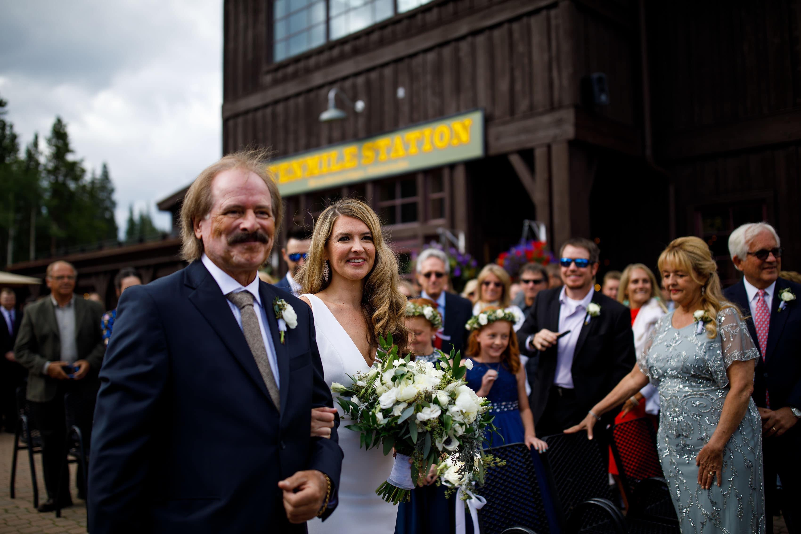 Heather walks down the aisle at TenMile