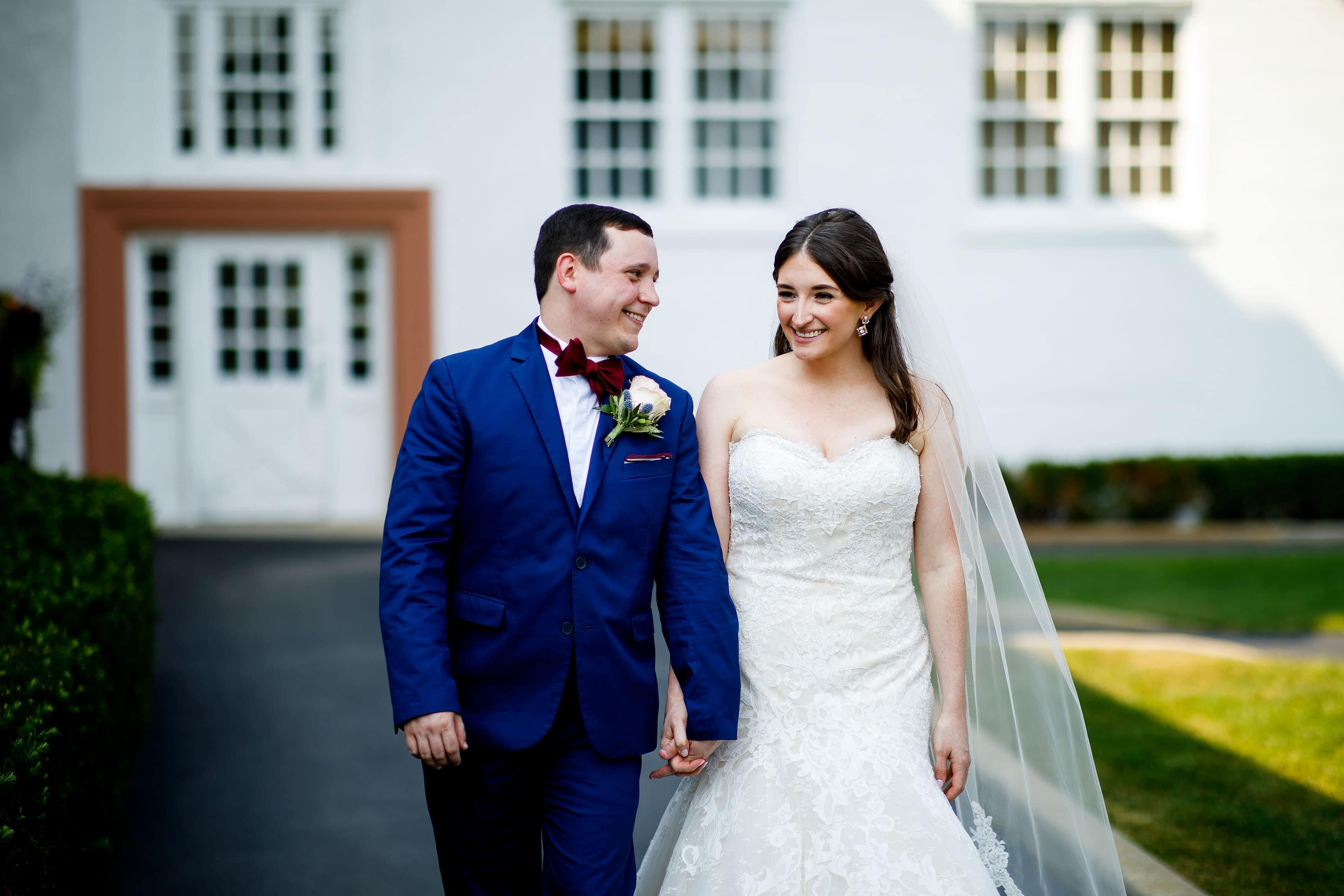 Katie and Joel walk together