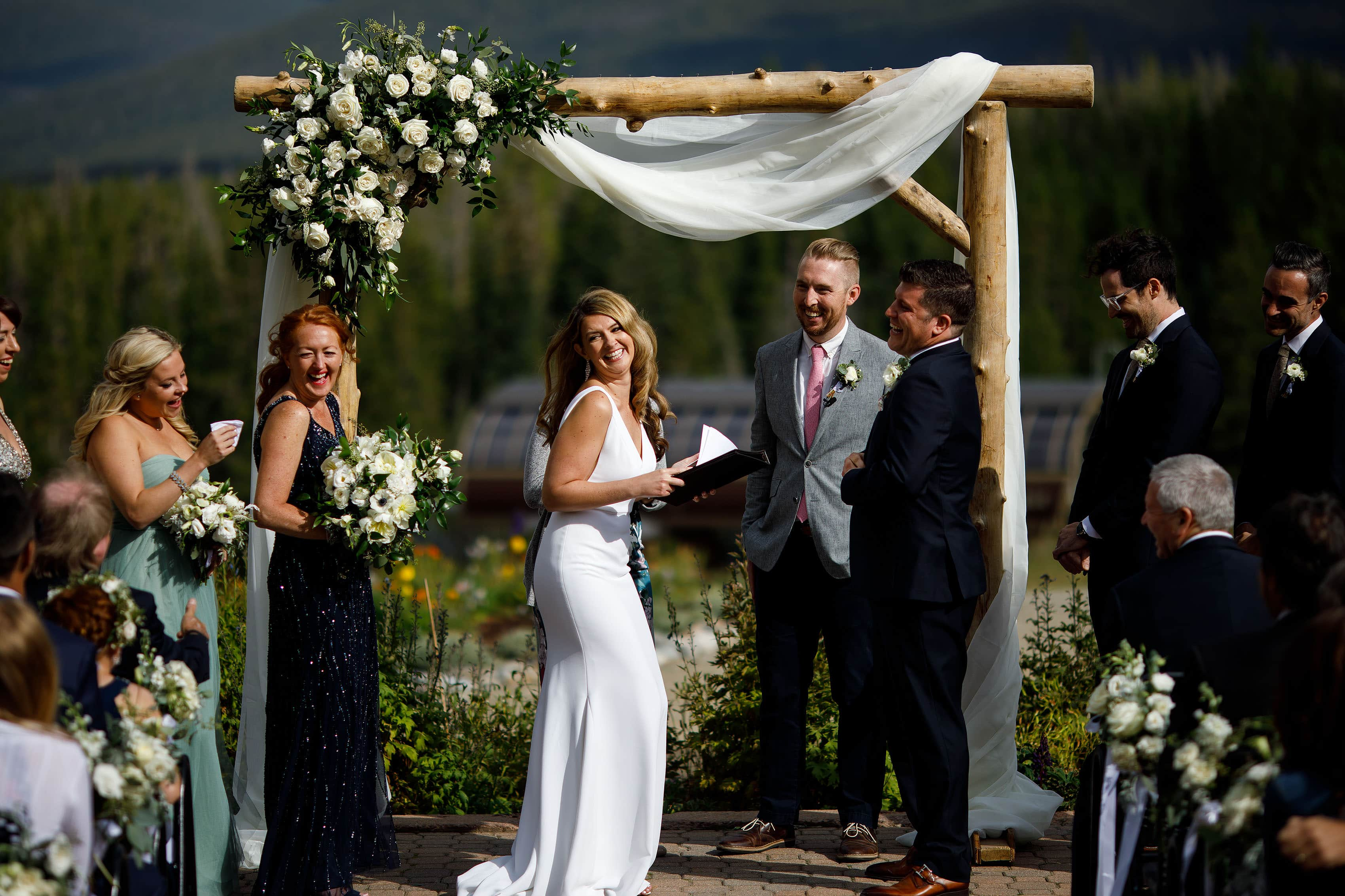 Heather reads her vows at TenMile