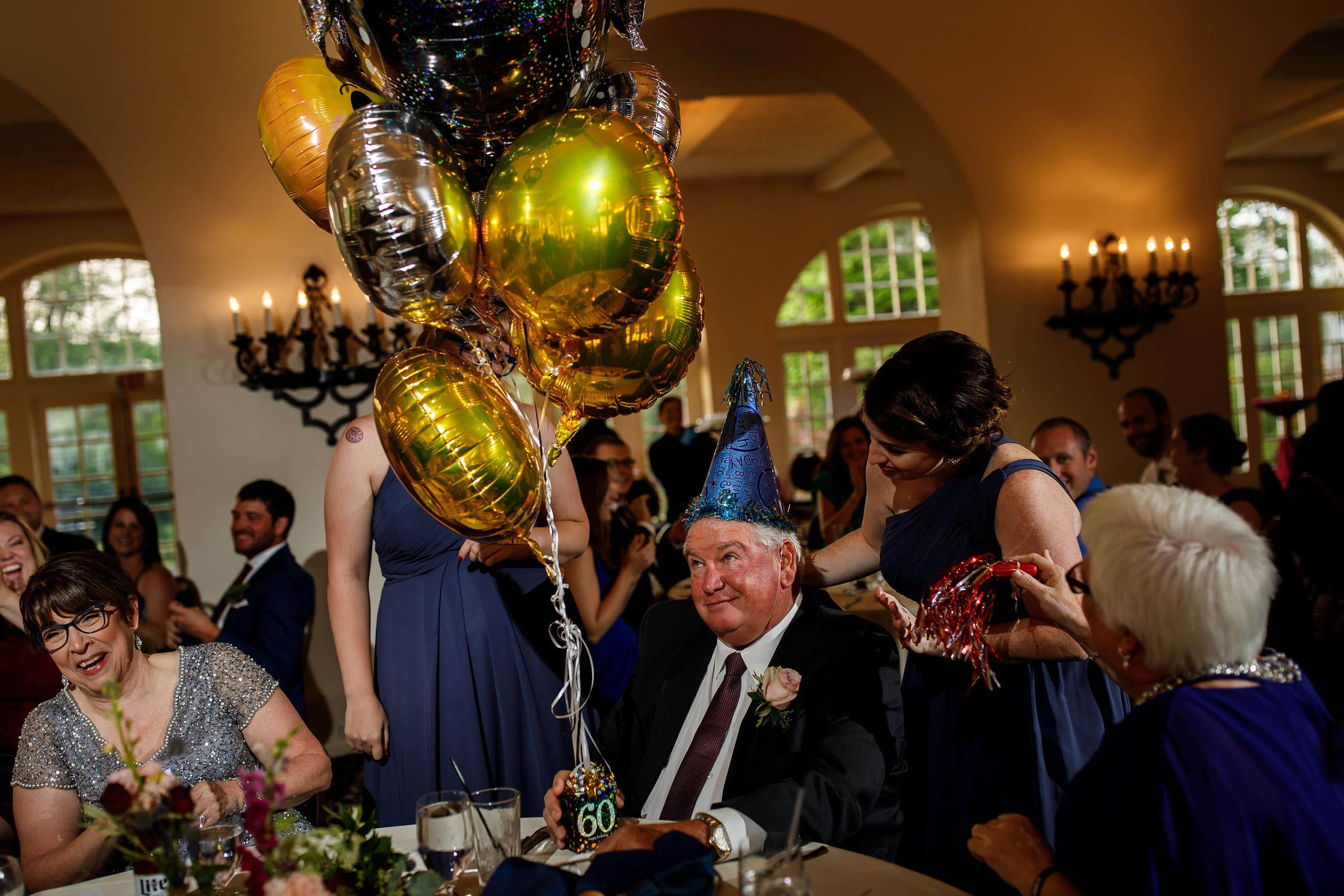 The father of the bride celebrates his birthday at Ravisloe Country Club