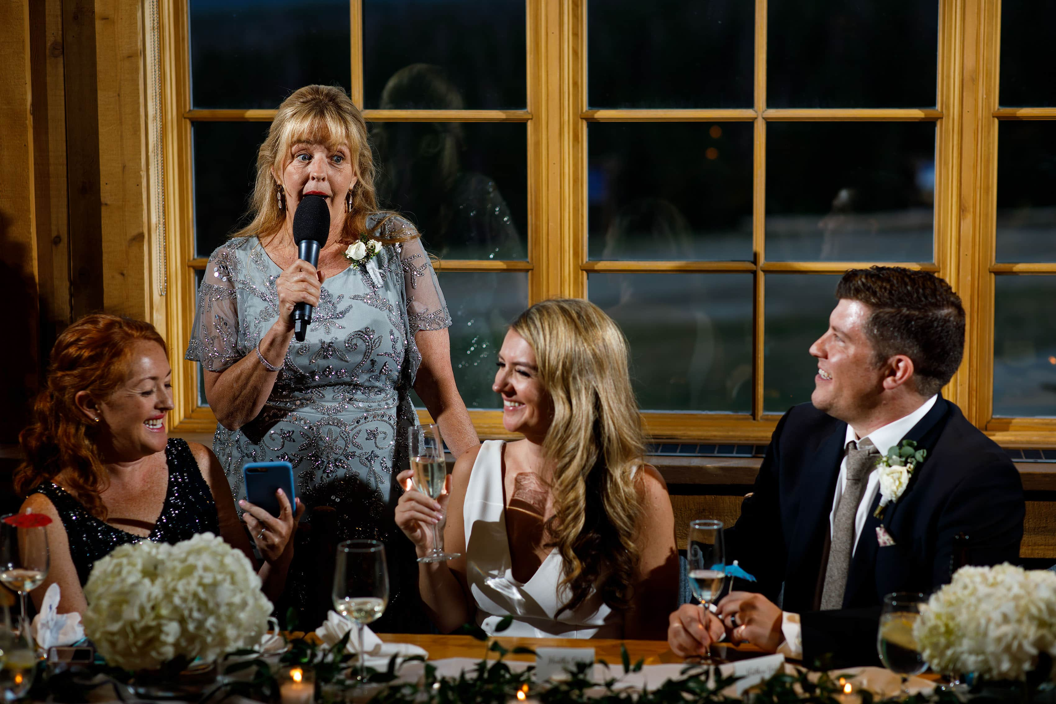 Heather mother gives a toast