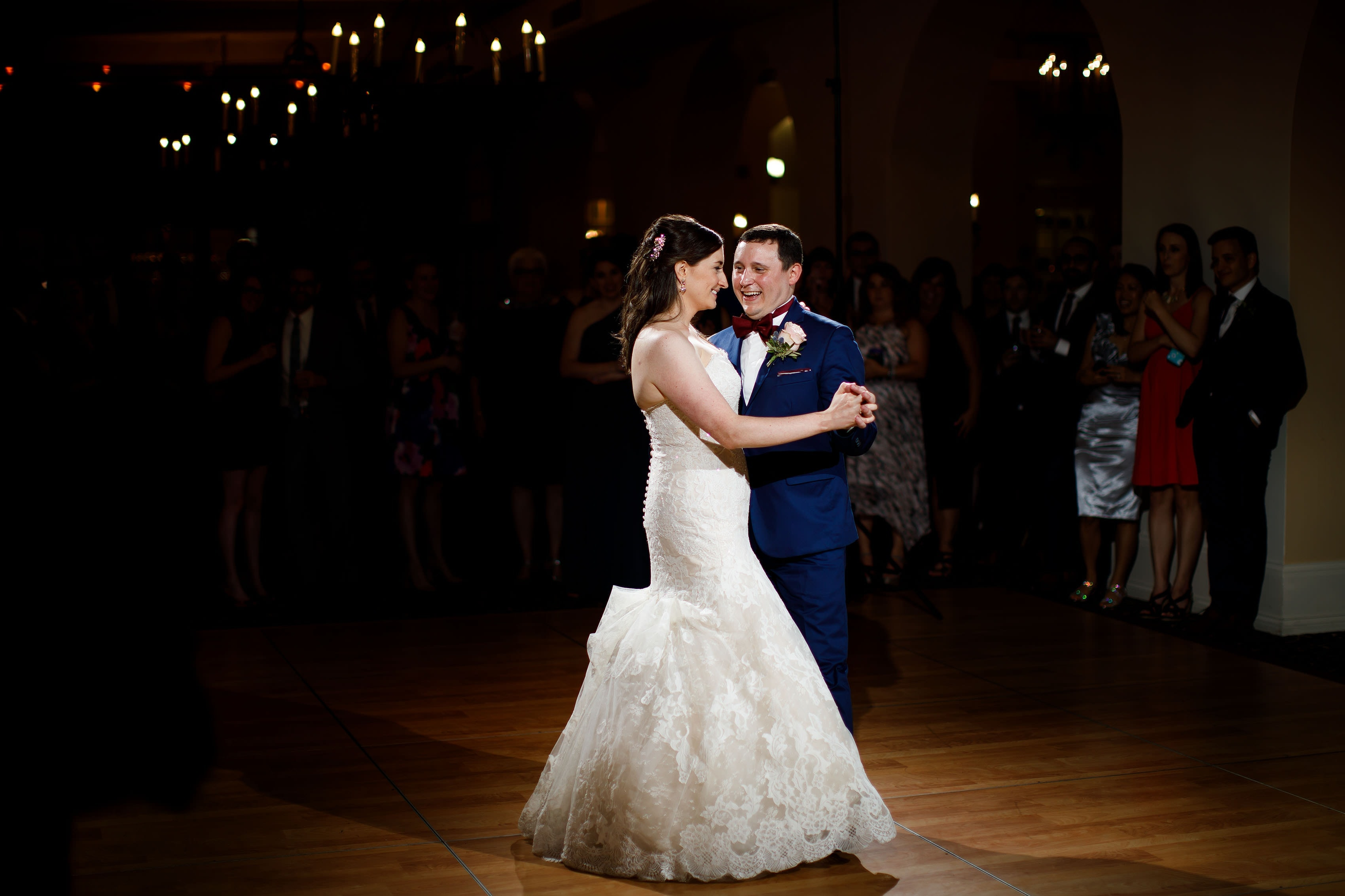A first dance between Katie and Joel during their Ravisloe Country Club wedding