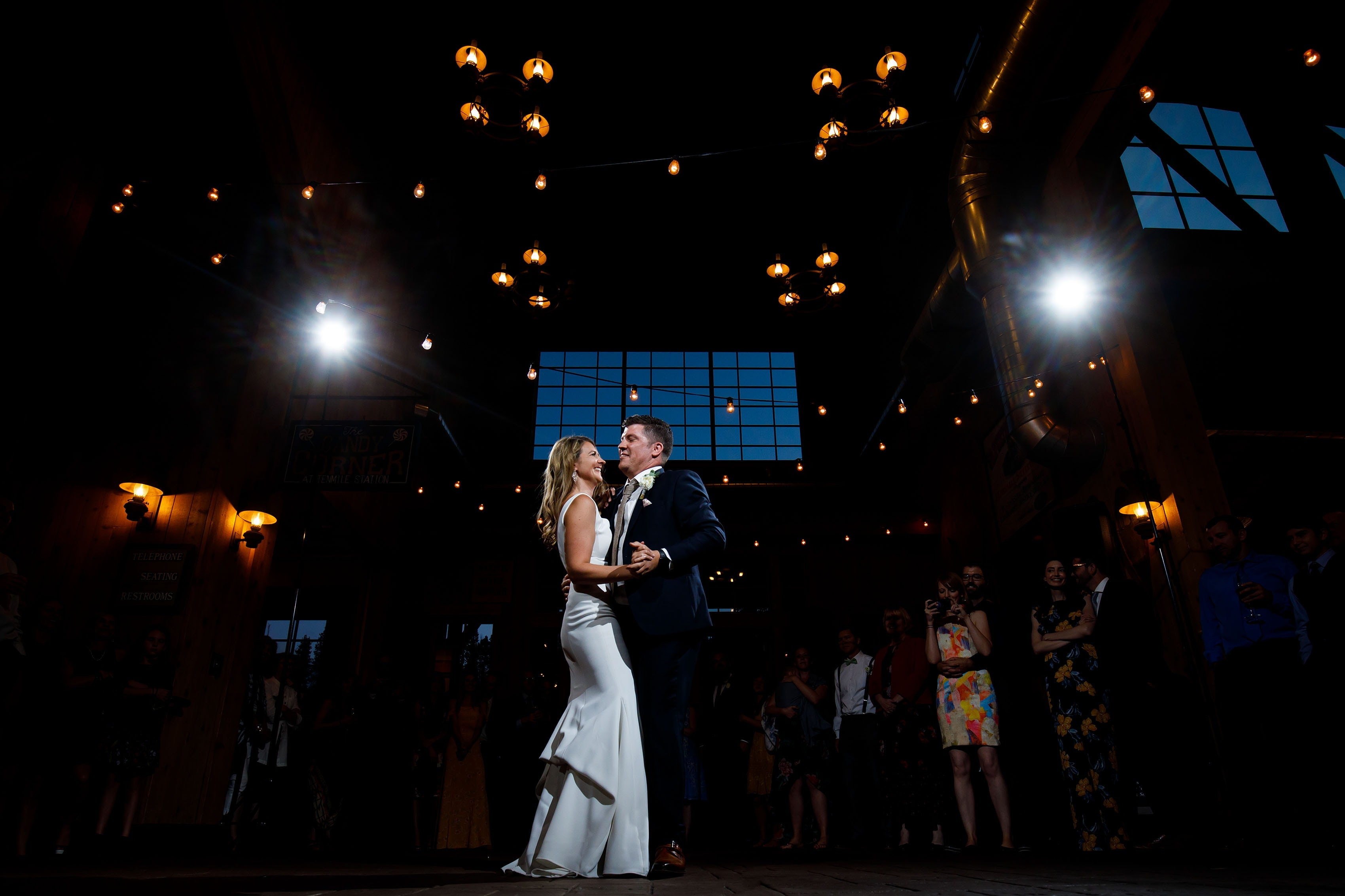 Heather and Matt dance together for the first time in Breckenridge