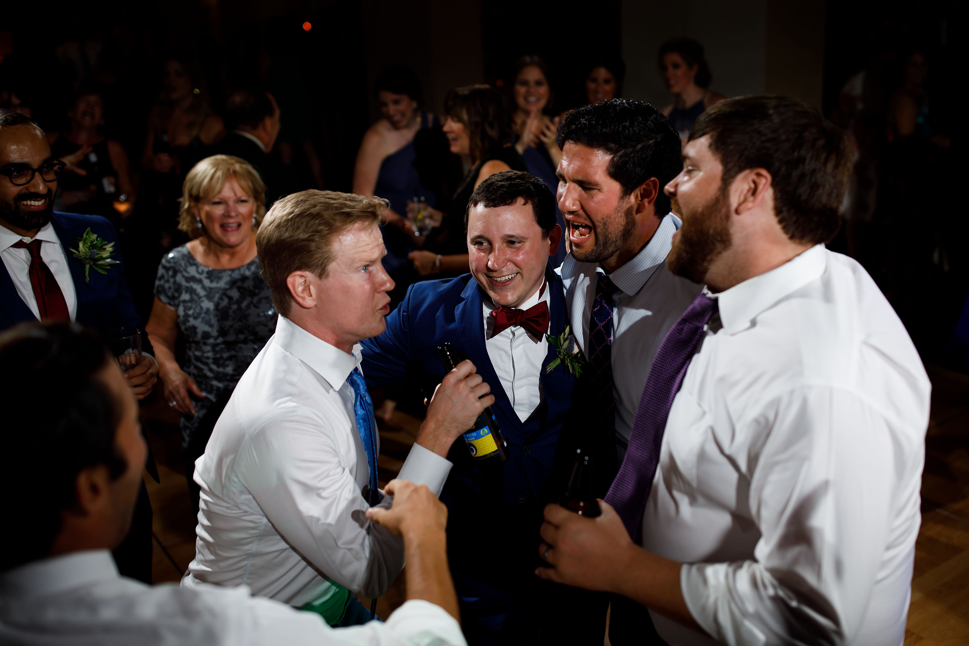 Guests dance at Katie and Joel wedding