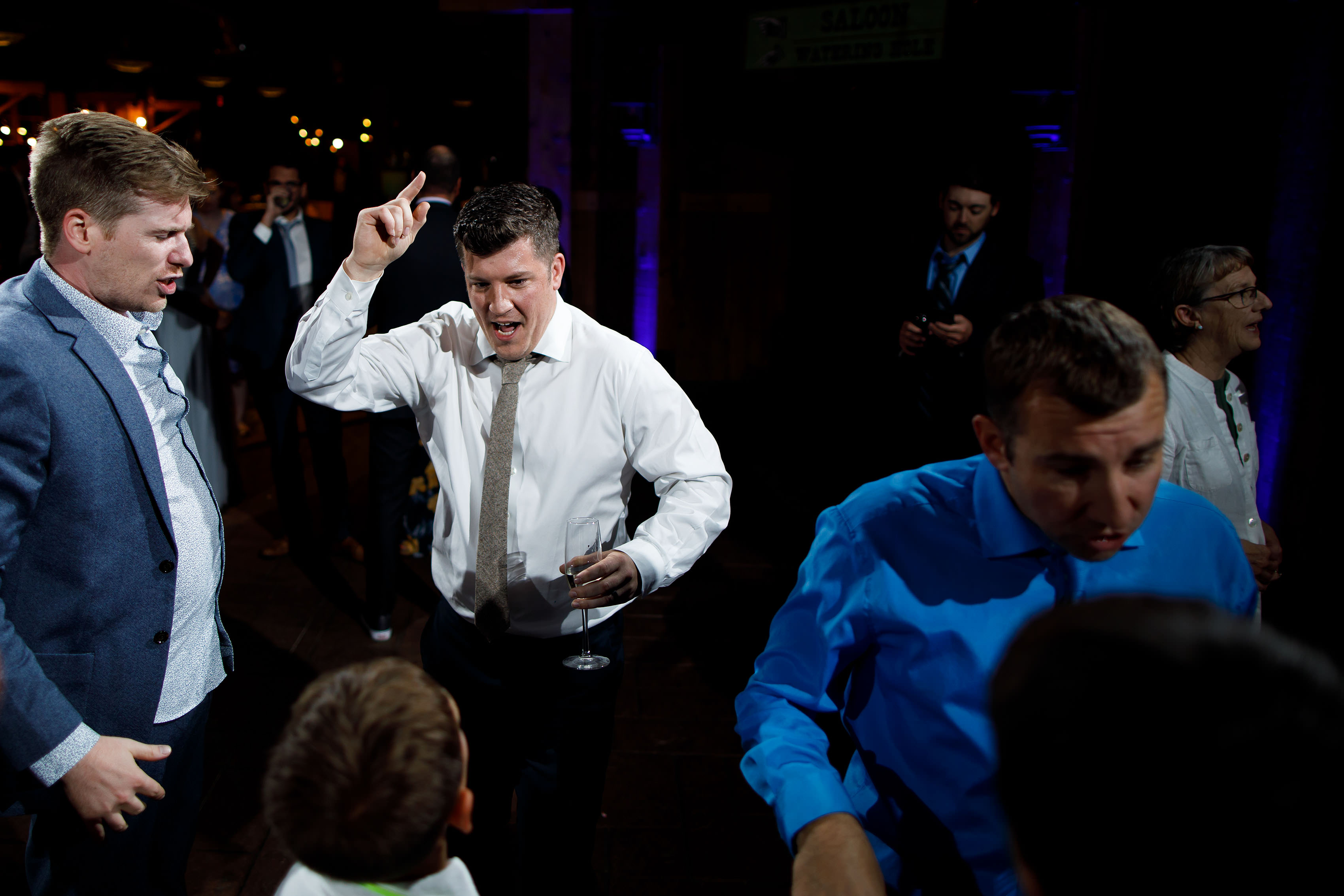 Guests dance at Heather and Matt wedding at TenMile