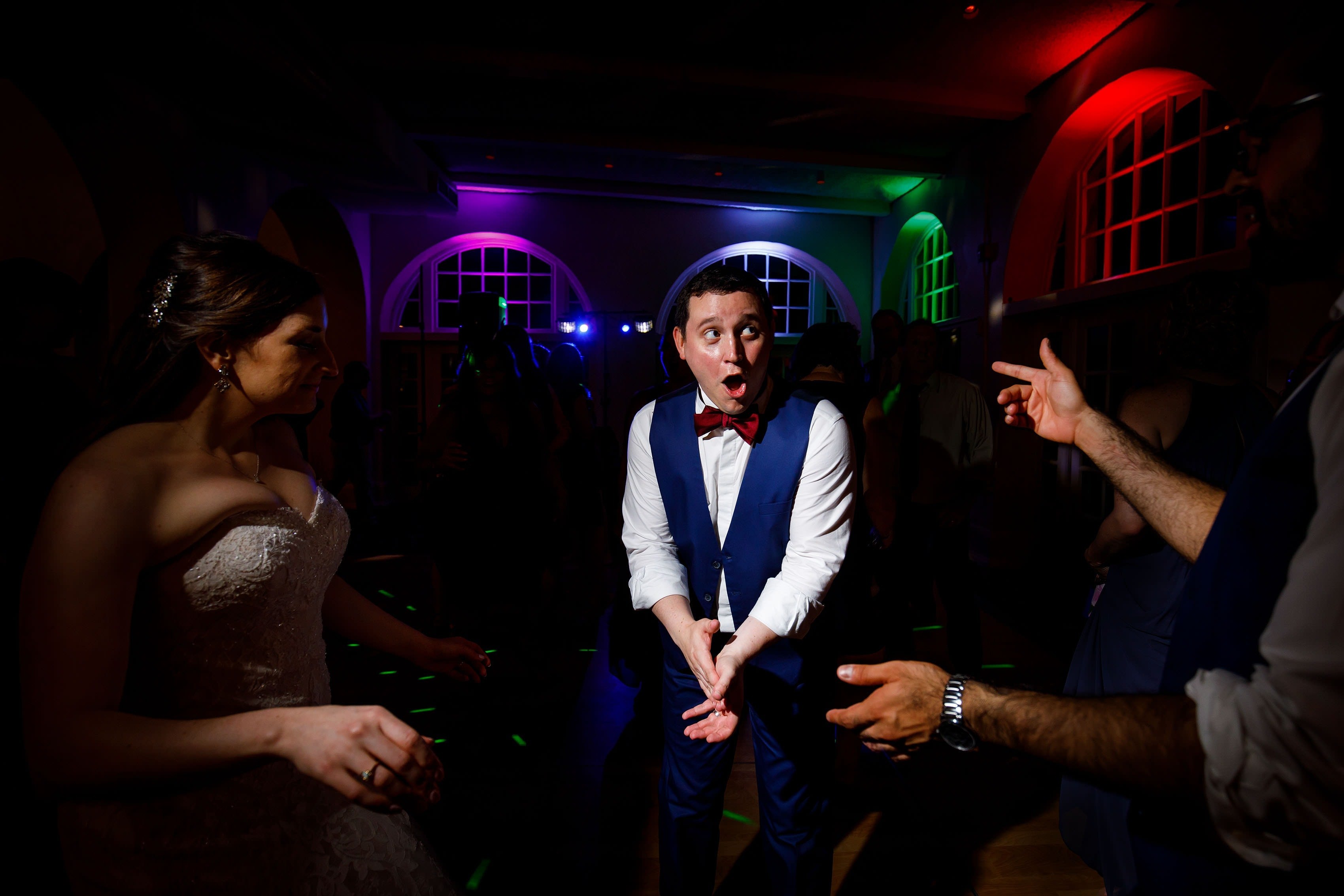 The groom dances with the bride at Ravisloe