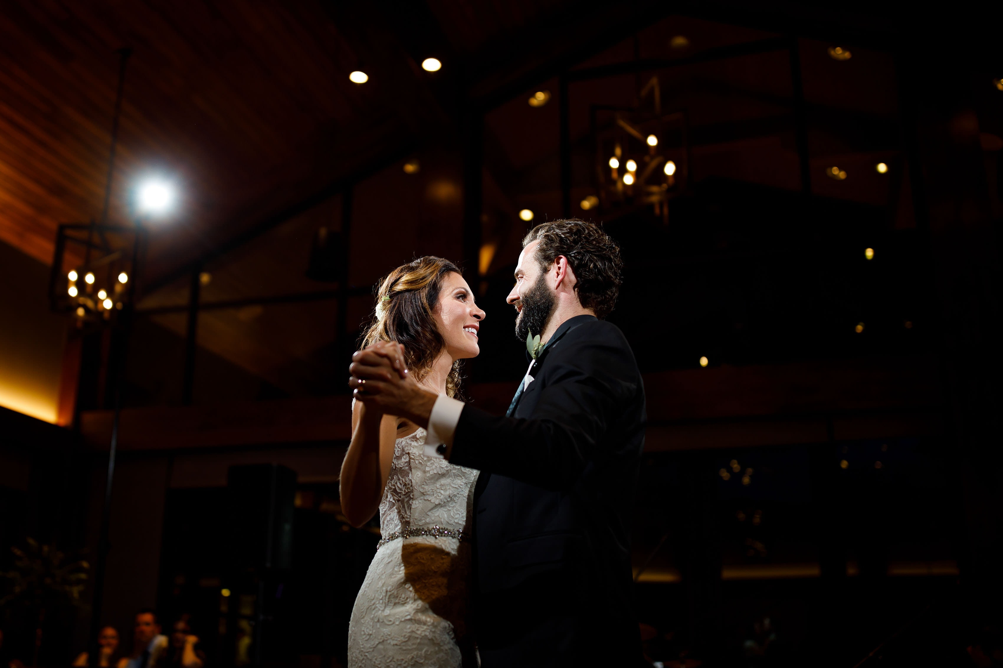 Christine and Stephen dance together at Vail GOlf Club