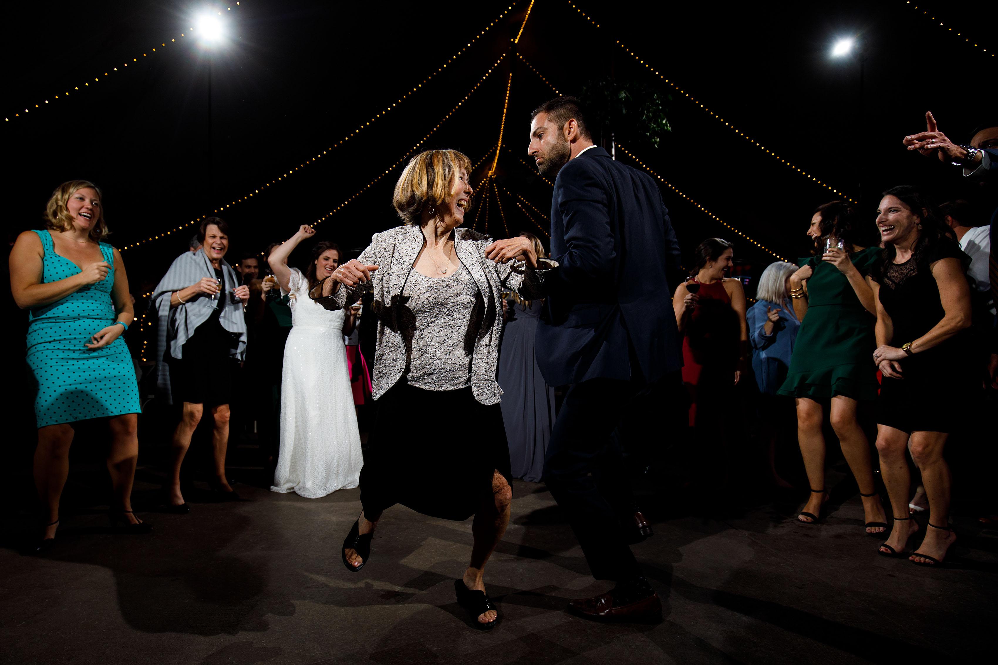 Guests dance at Blackstone Rivers Ranch
