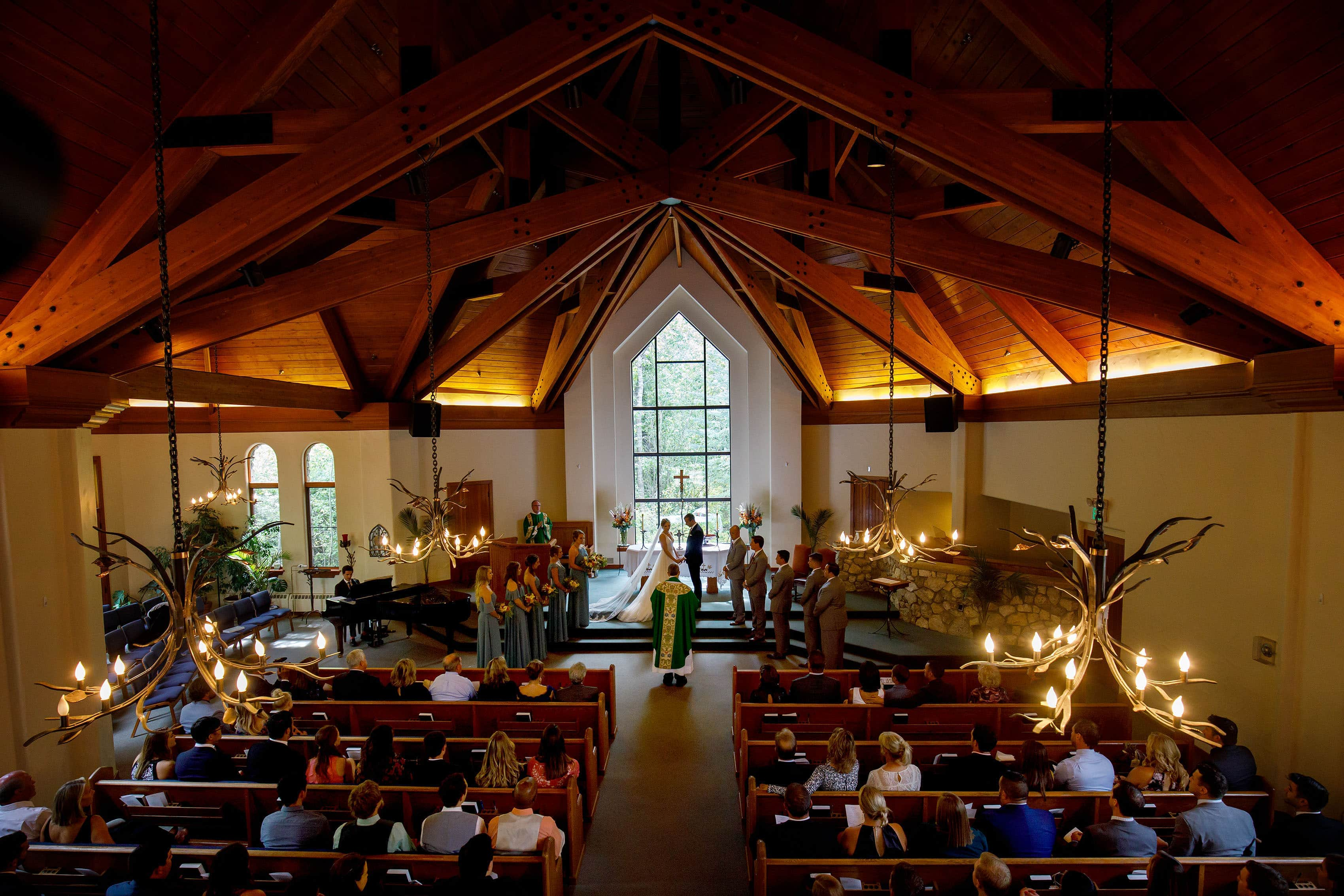 Colorado mountain catholic wedding ceremony at the Chapel at Beaver Creek