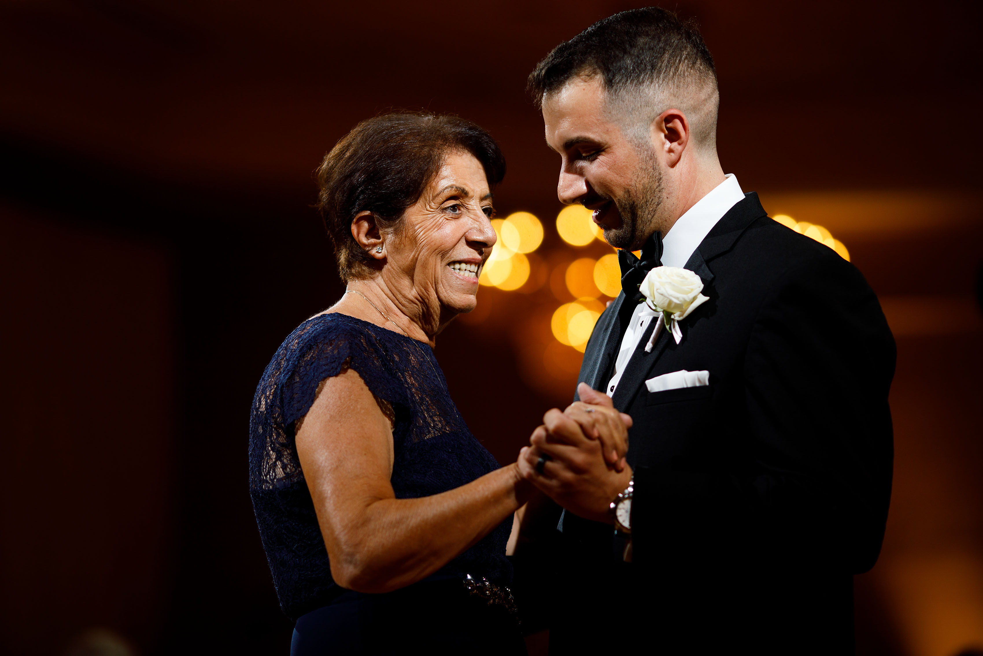 Demetris dances with his mother