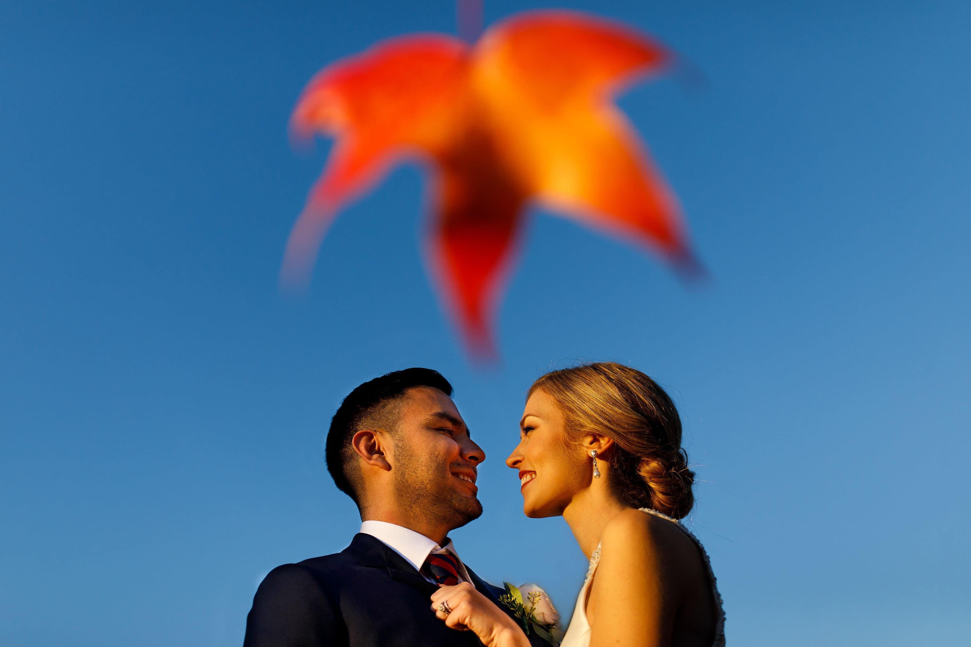 Fall wedding portrait in Orange, Virginia