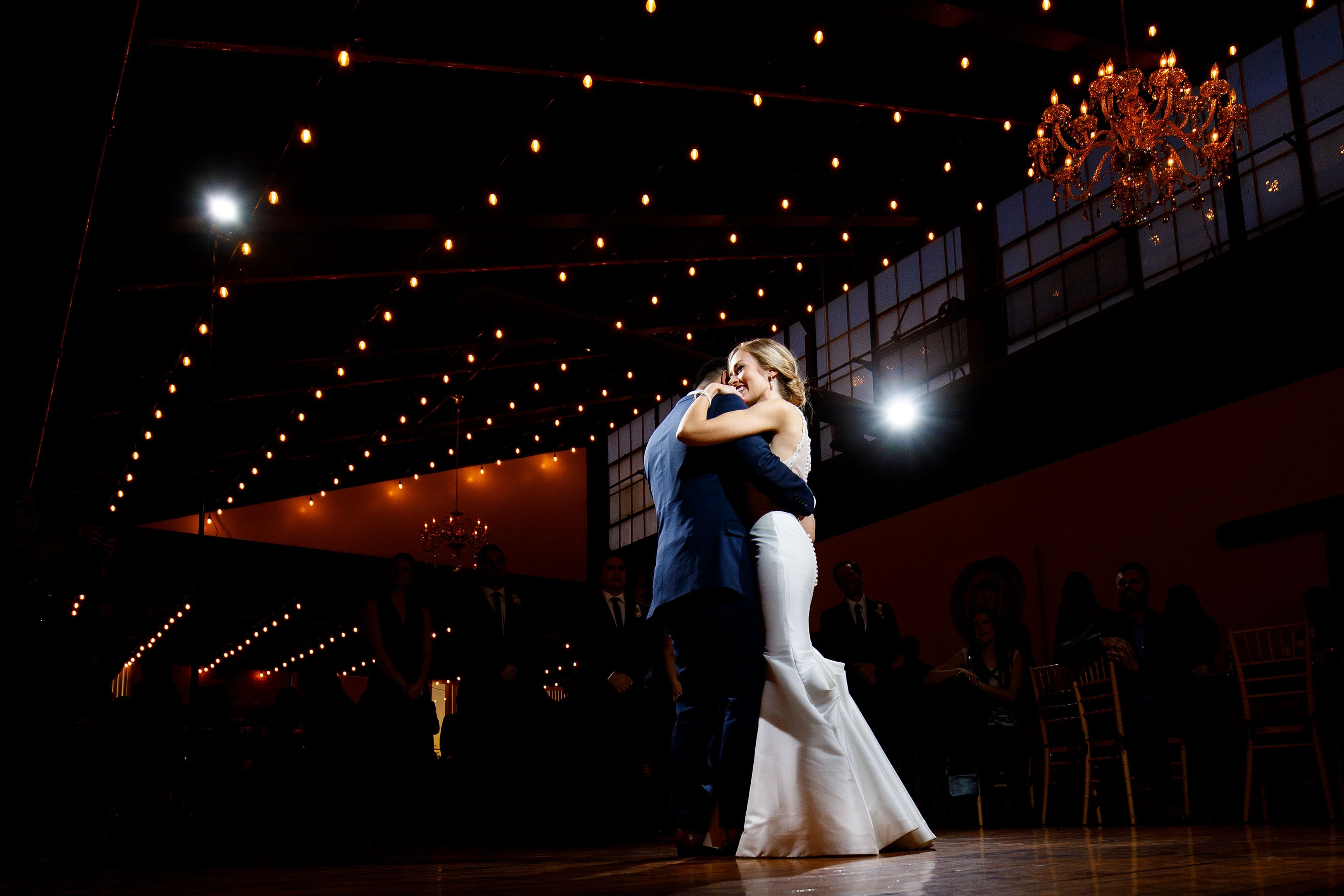 Ashley and Richie dance at Madison at the Mill under the market lights