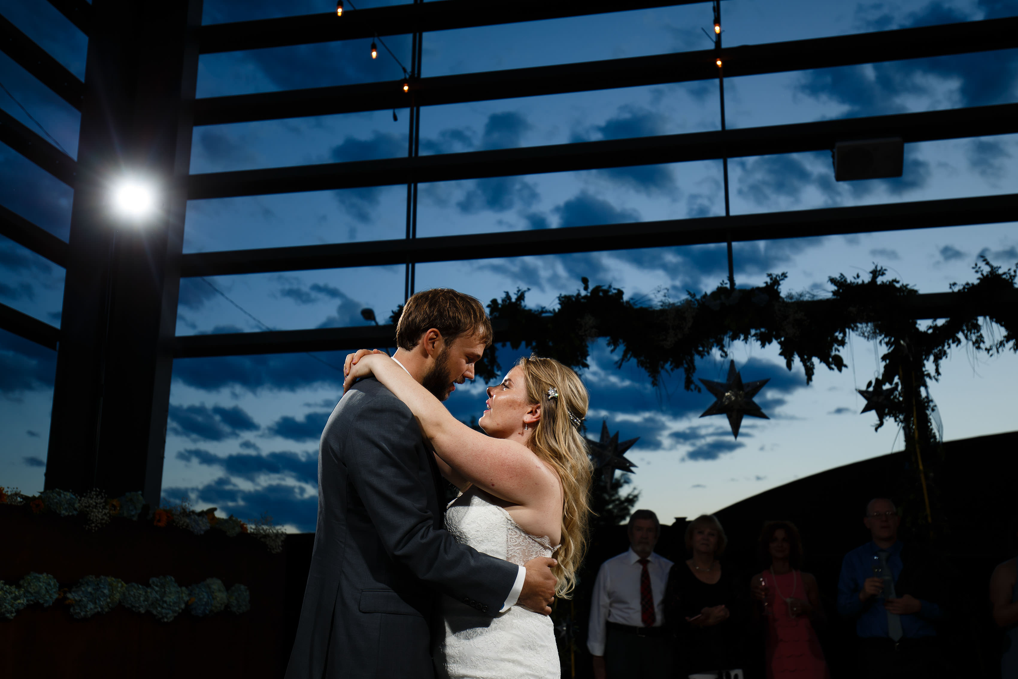 First dance outdoors at Space Gallery