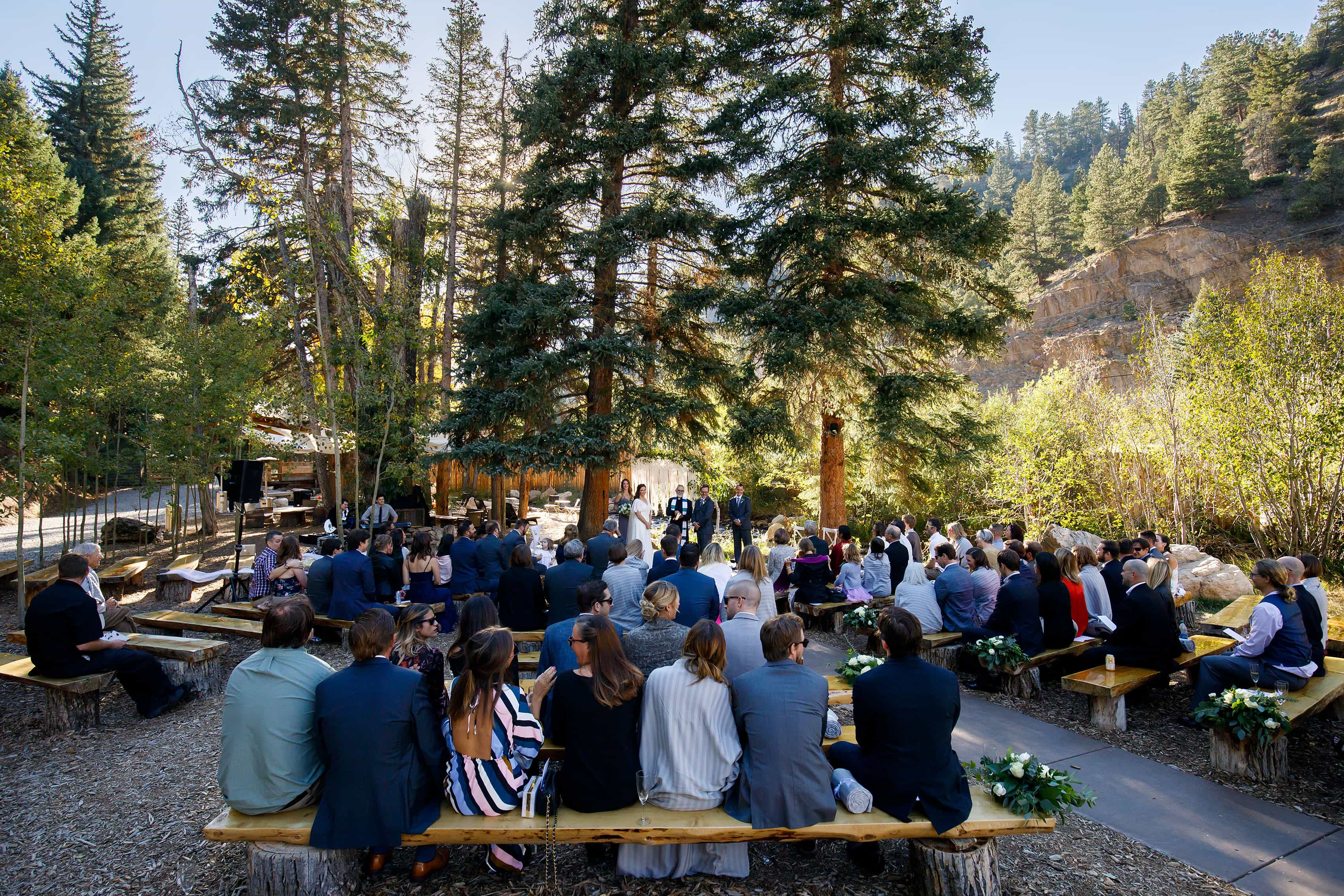 Blackstone Rivers Ranch Wedding ceremony outdoors