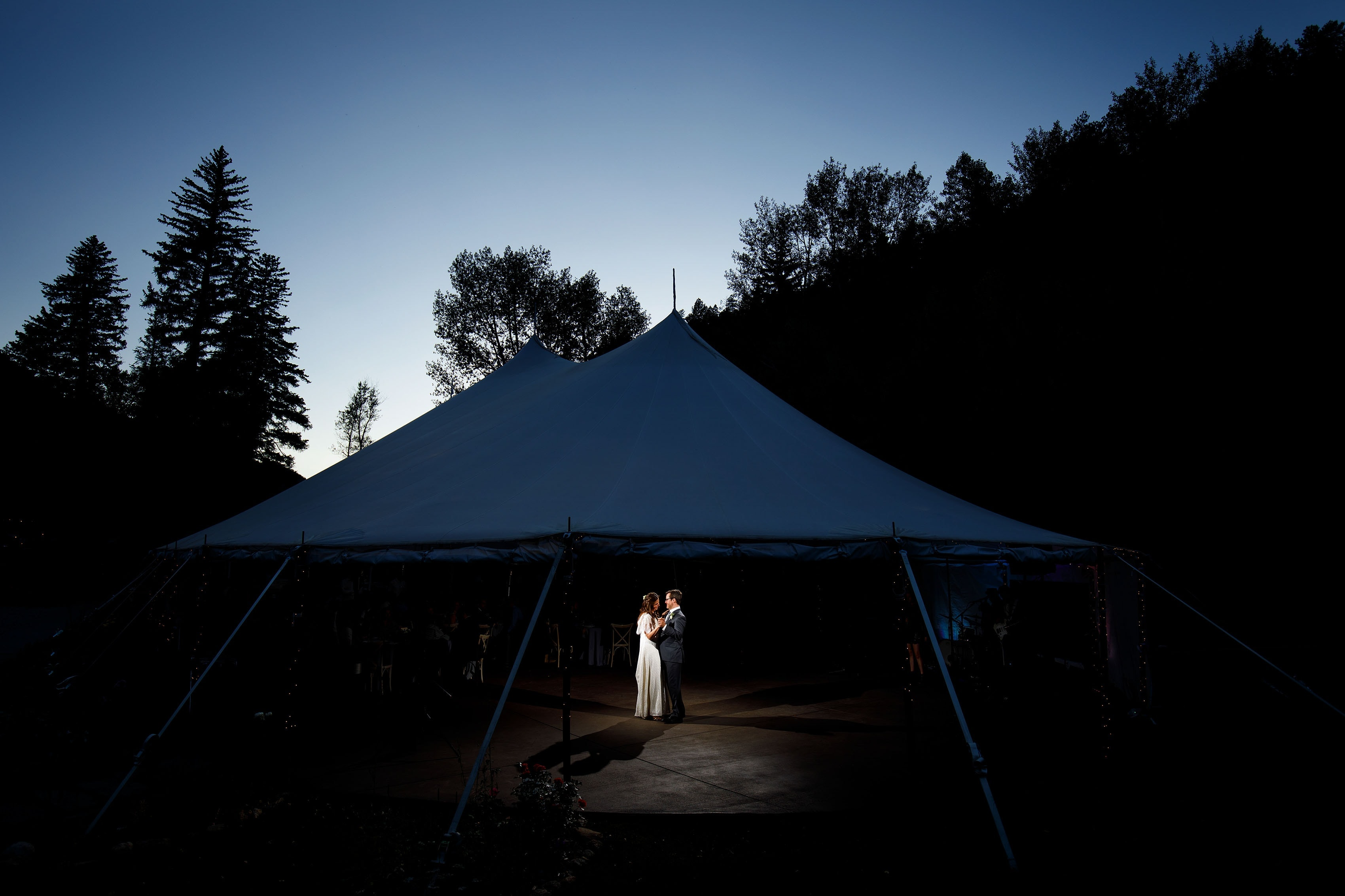 First dance during a Blackstone Rivers Ranch wedding