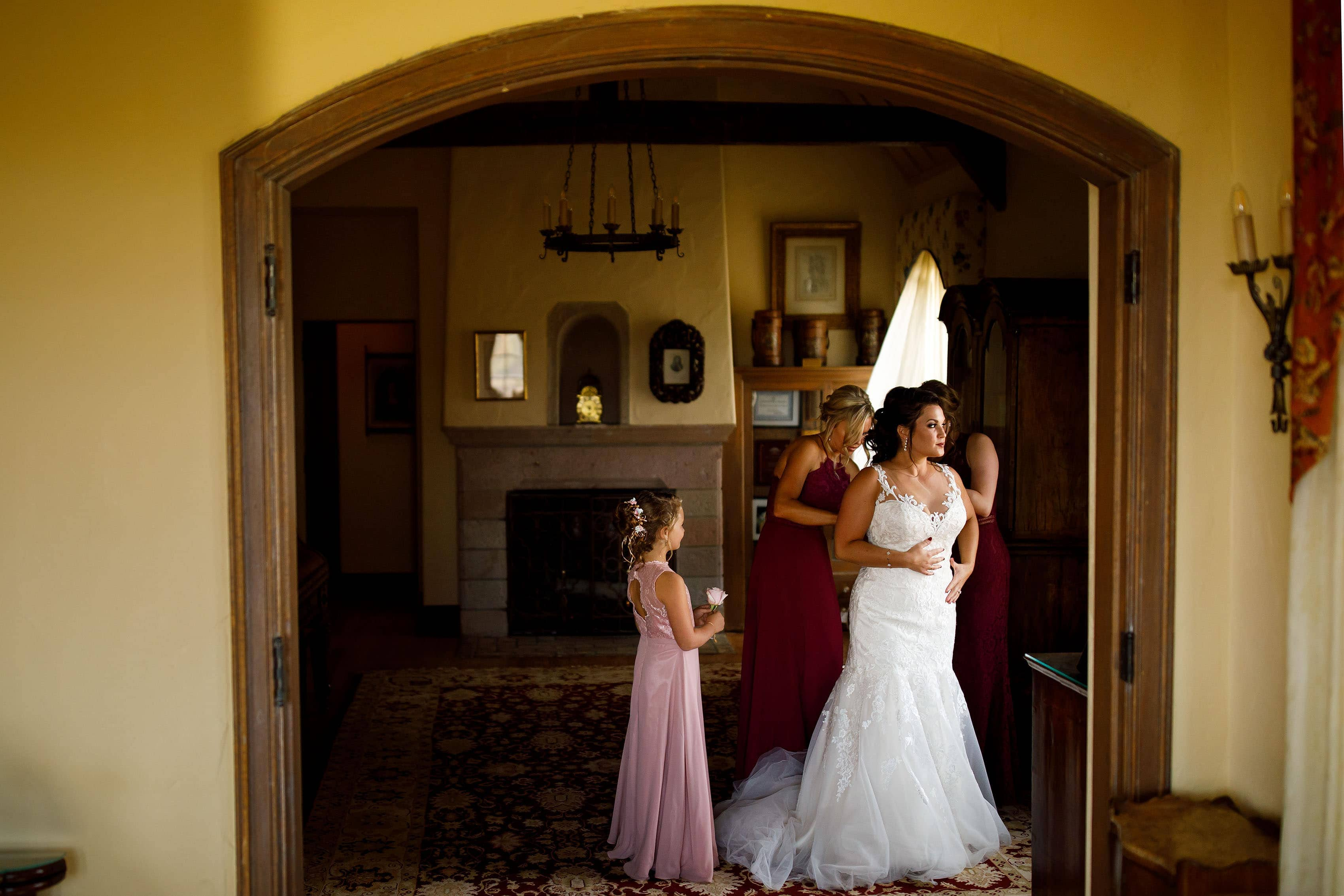 Bridal suite at Cherokee Ranch and Castle Foundation