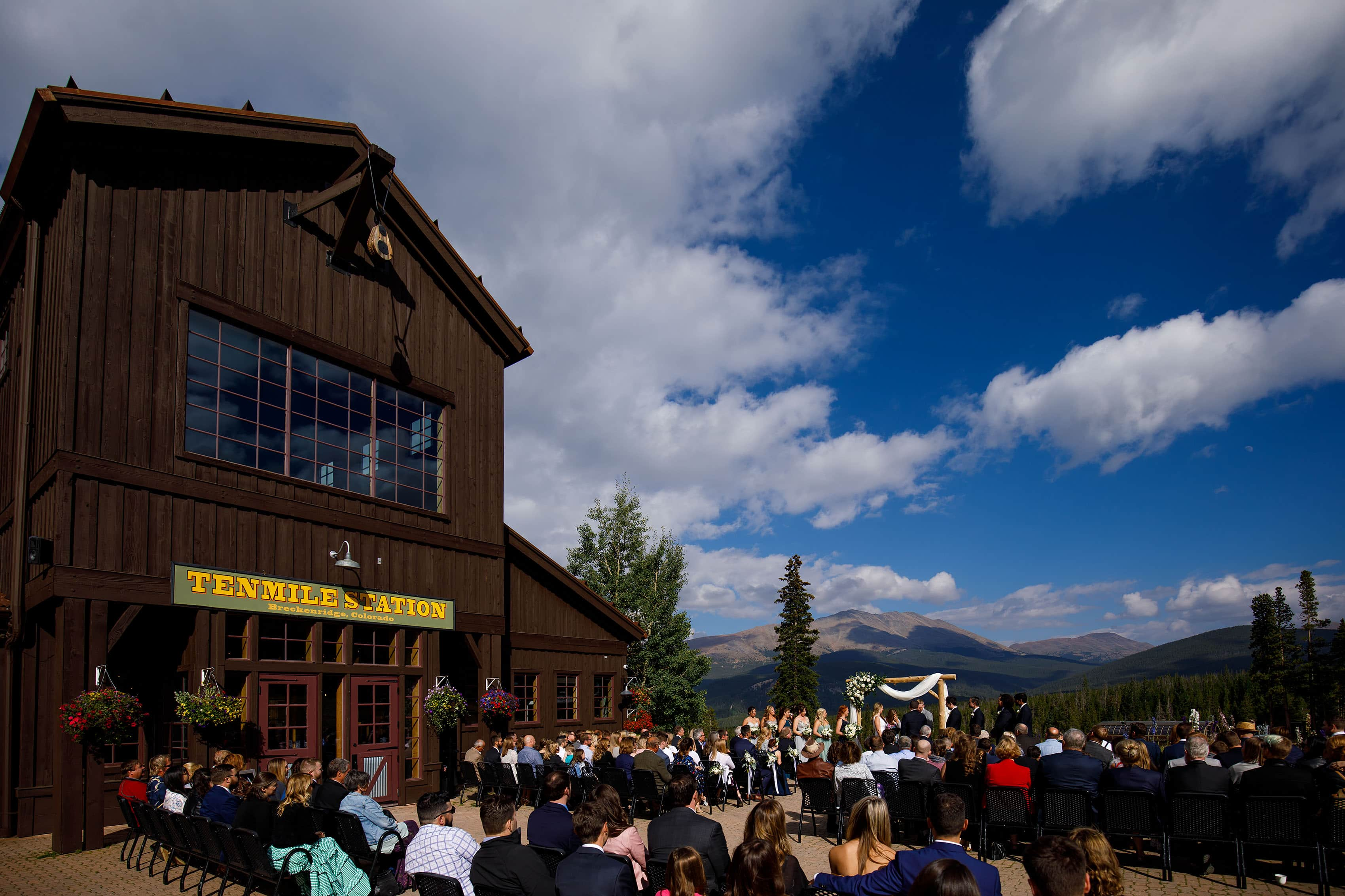 A general view of a TenMile Station wedding ceremony