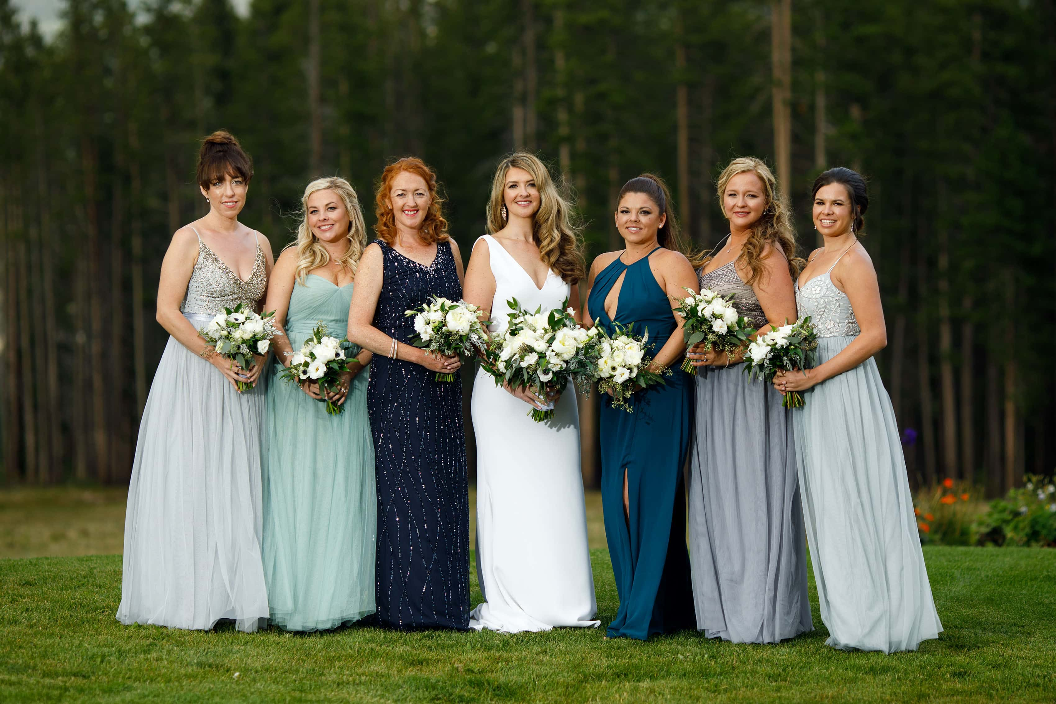 Bride and bridesmaids at TenMile Station