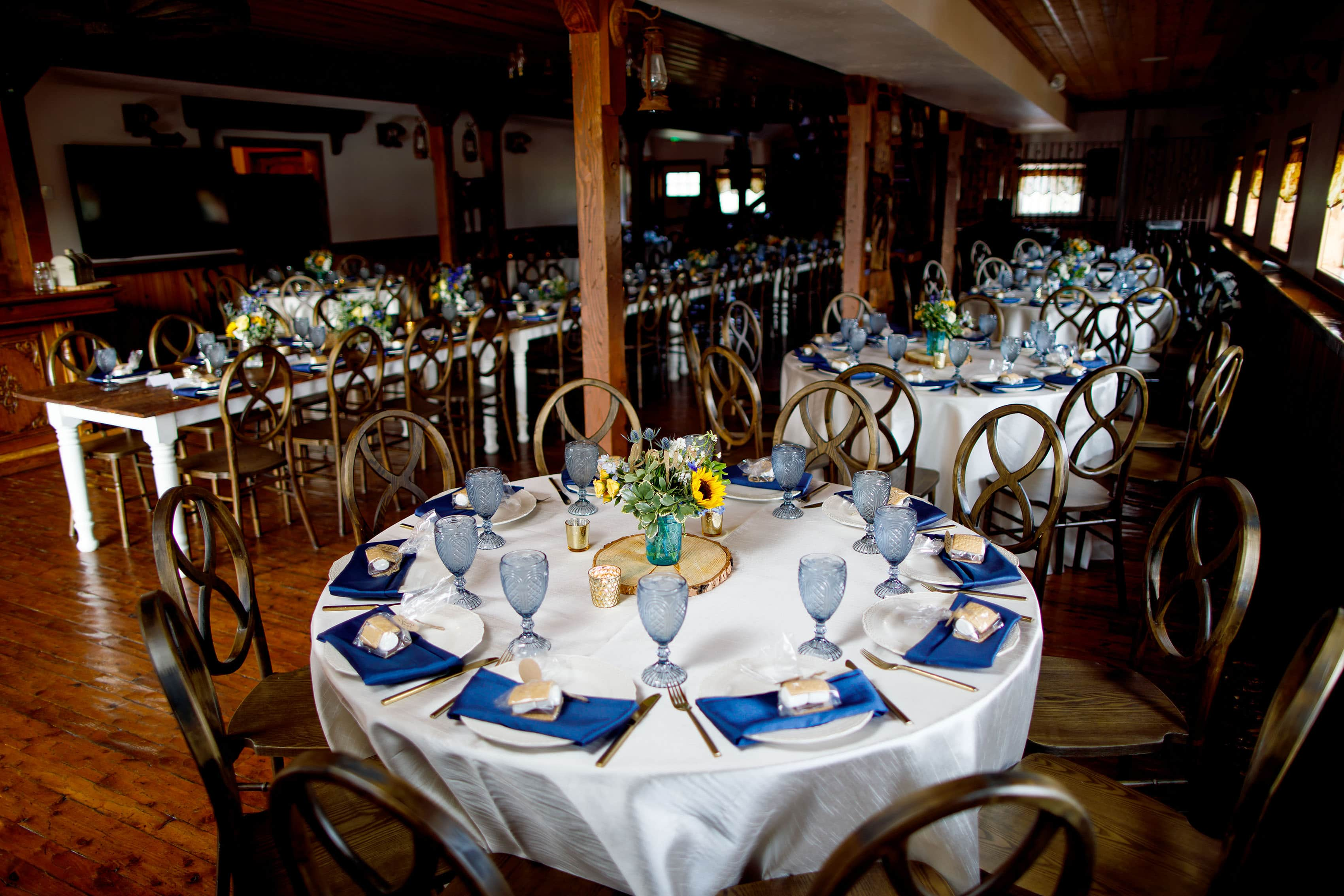 Table setup at Deer Creek Valley Ranch