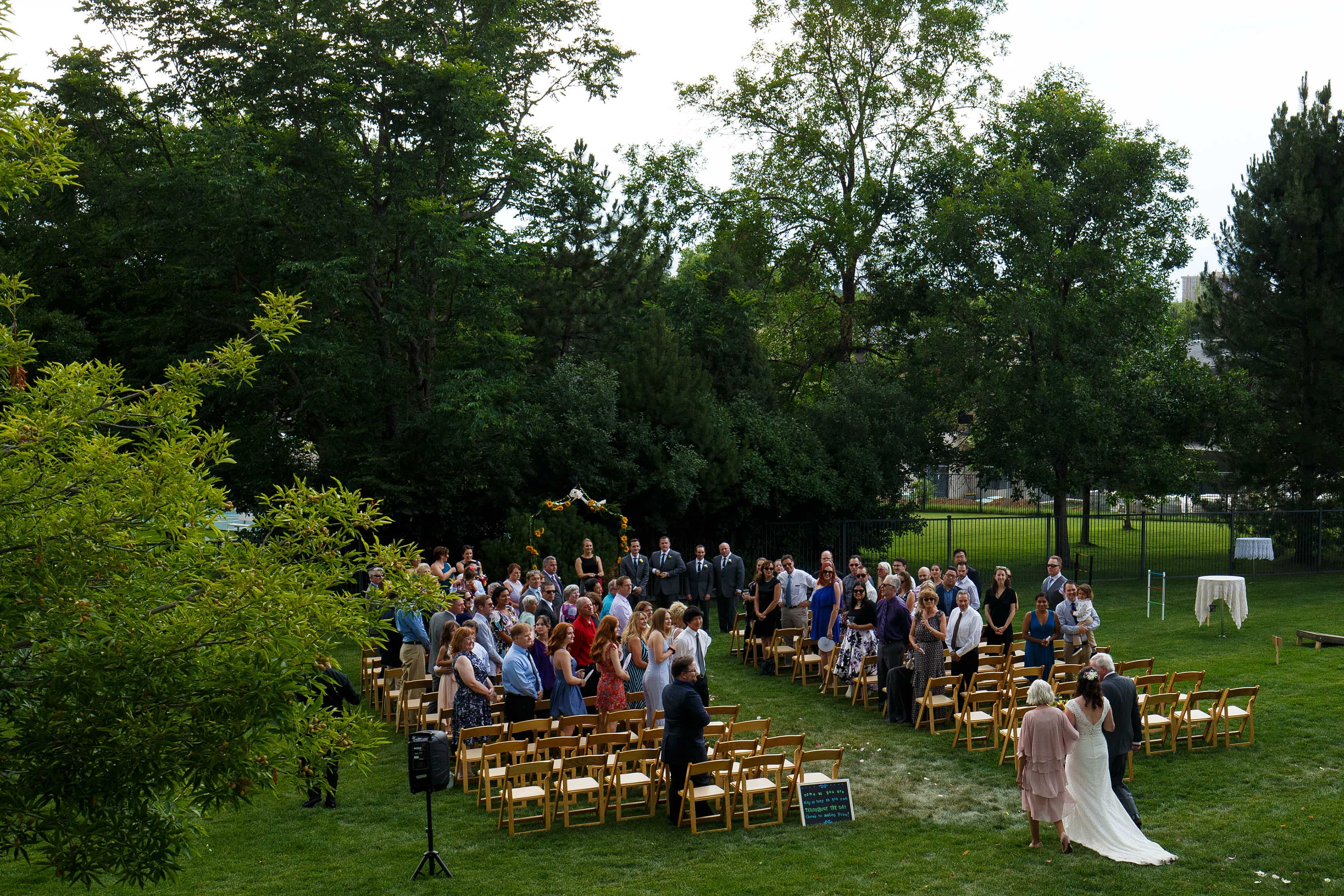 Buell Mansion wedding ceremony in Denver