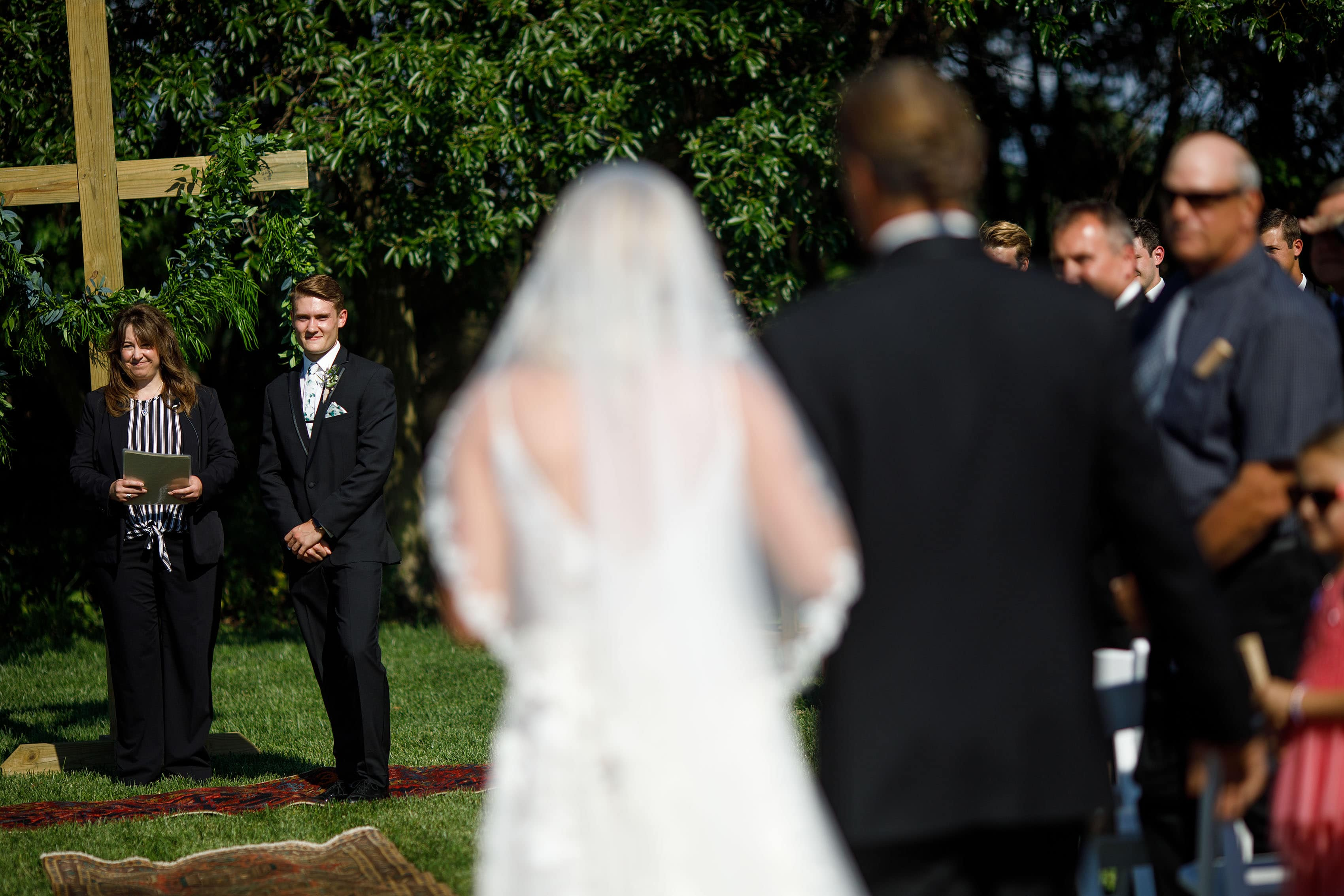 Jacob sees Sienna for the first time on their wedding day at Emerson Fields