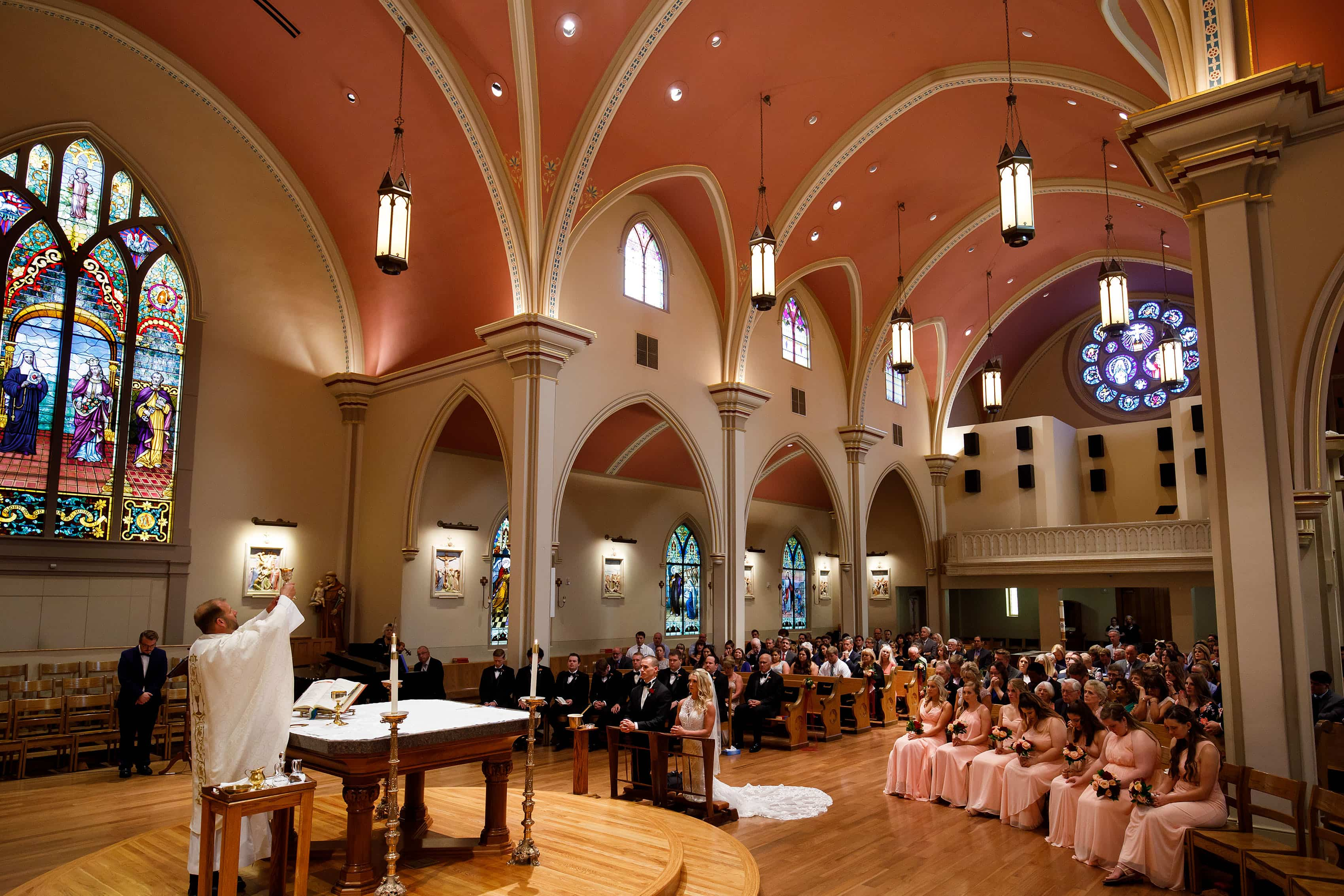 Wedding mass at St. Mary's Cathedral in Colorado Springs