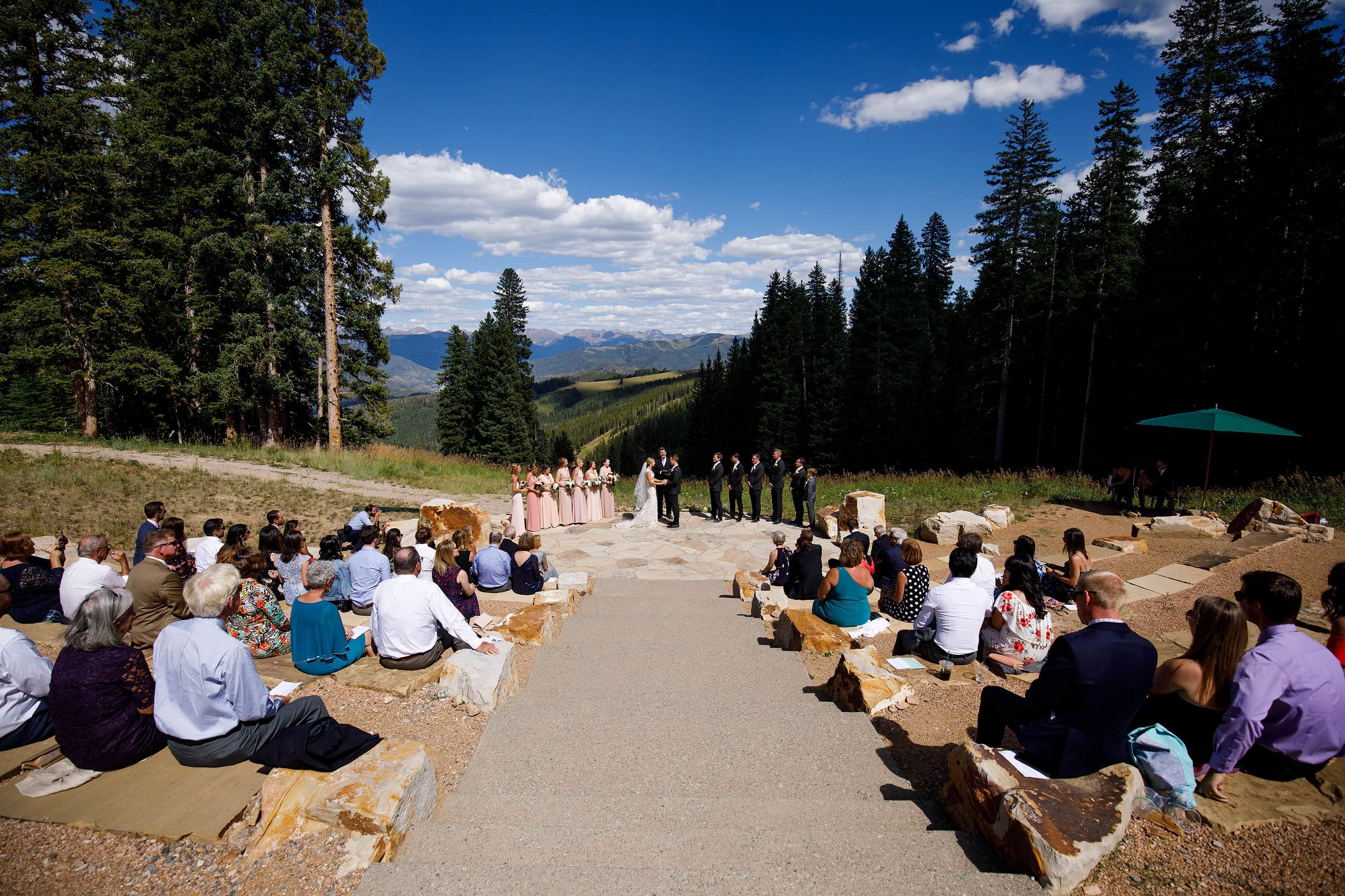 Summer Beaver Creek Wedding Deck ceremony