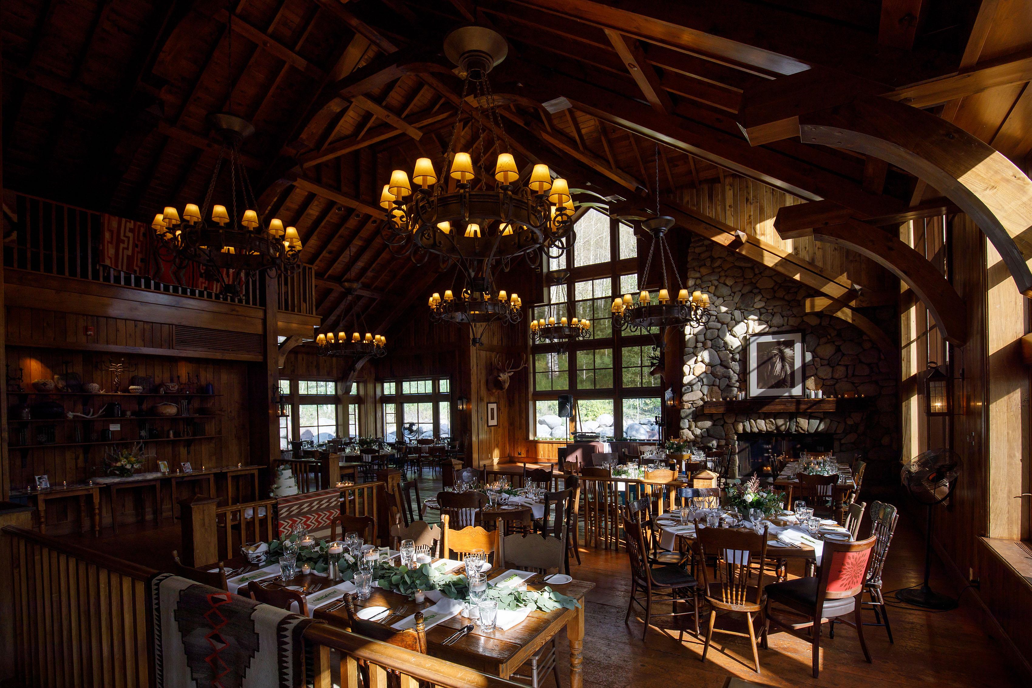 SaddleRidge wedding reception setup