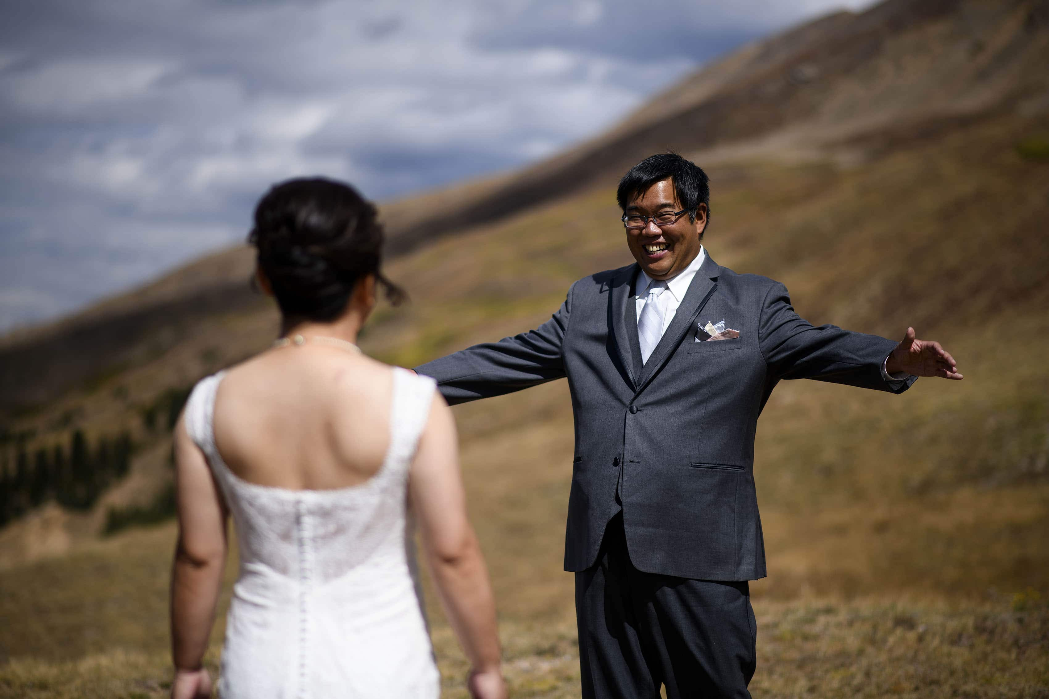 David reacts to seeing Xinya during their first look at Loveland Pass