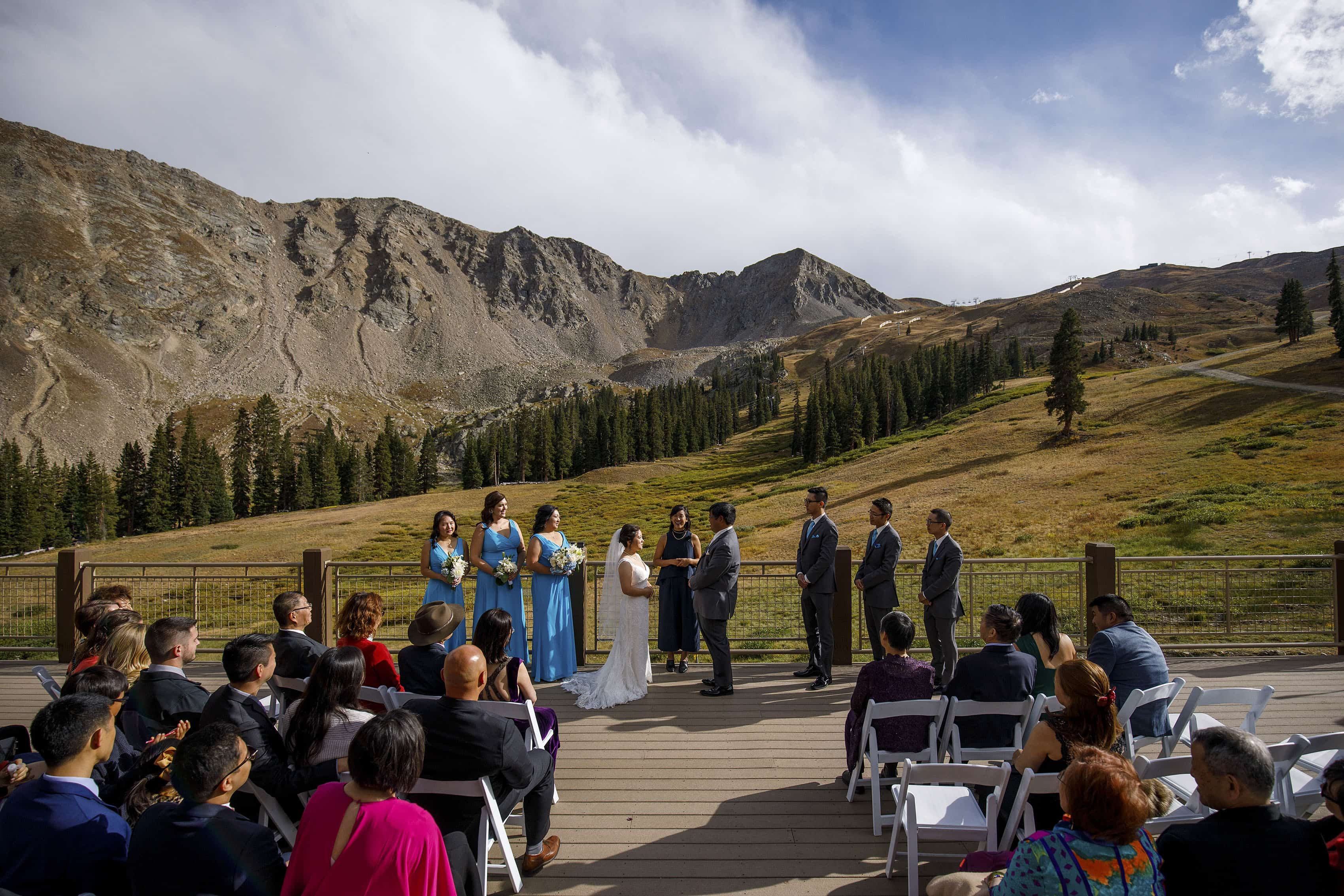 Black Mountain Lodge wedding ceremony at Arapahoe Basin