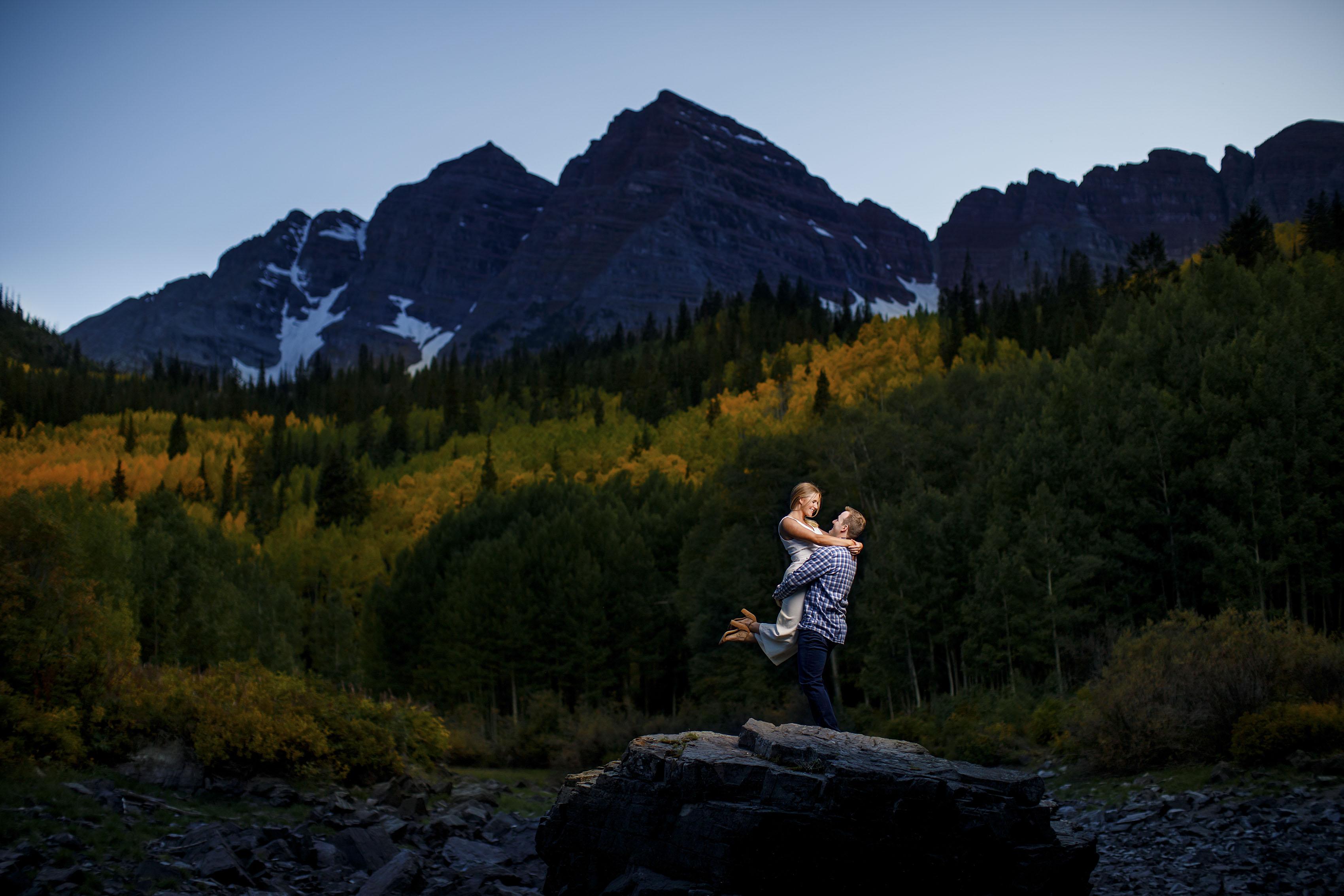 Fall Colors Engagement in Aspen | Mel & Drew