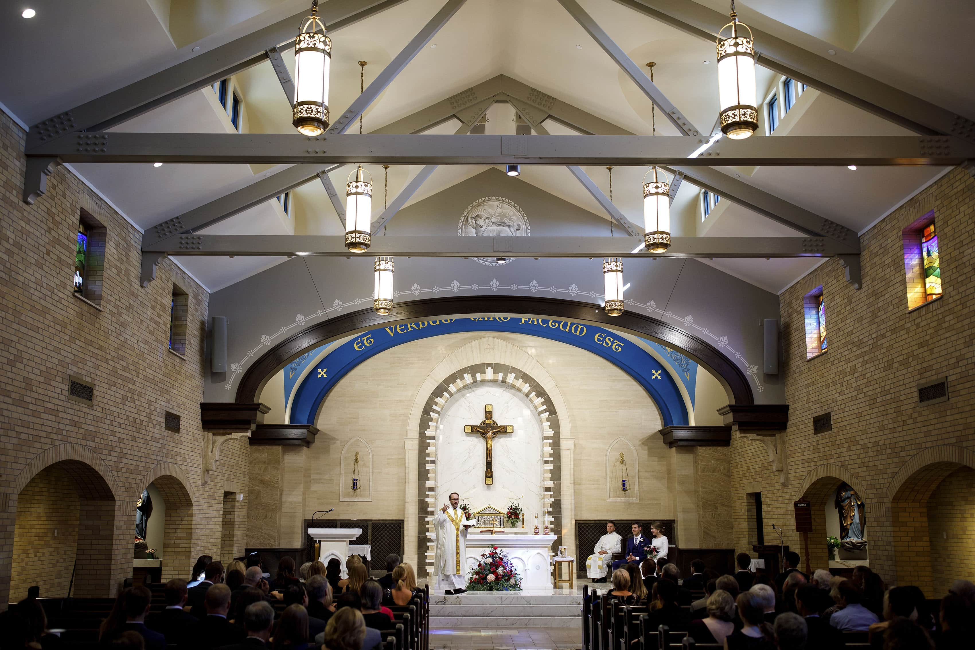 Our Lady of Lourdes wedding ceremony