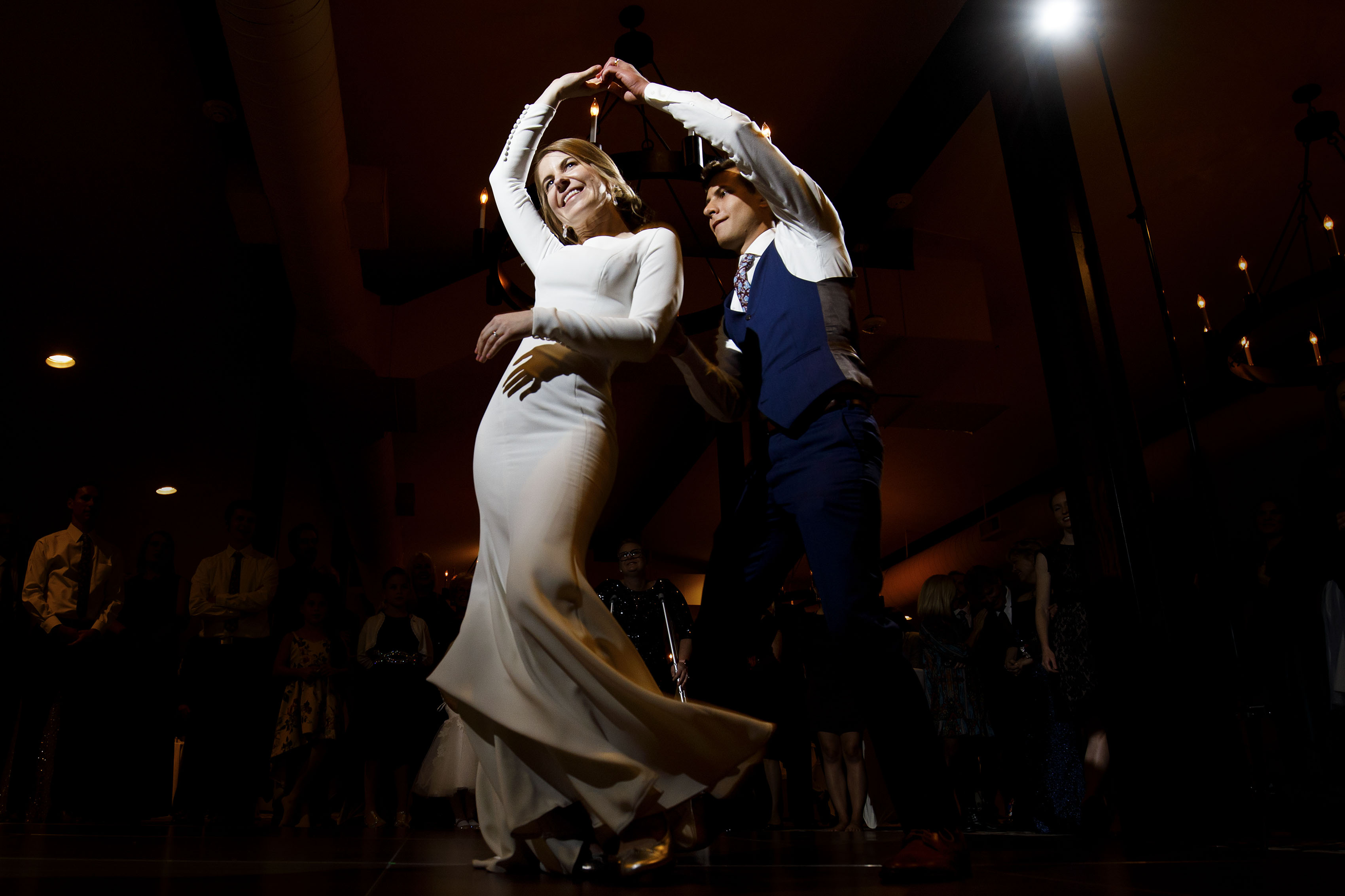 The couple share their first dance at The Vista at Applewood Golf Course