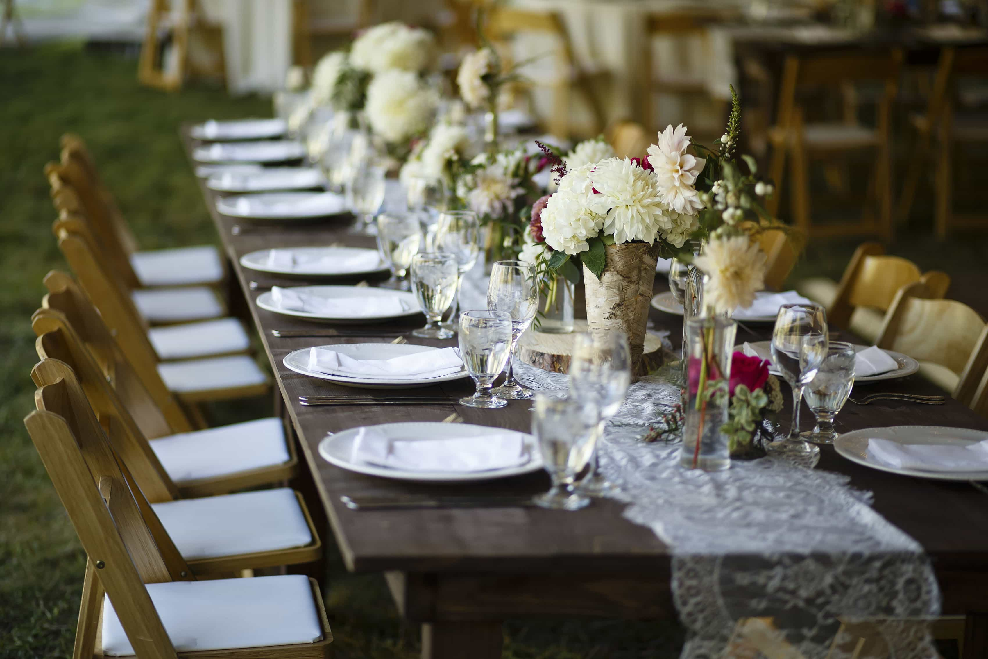 table details at Snowmass Cottages